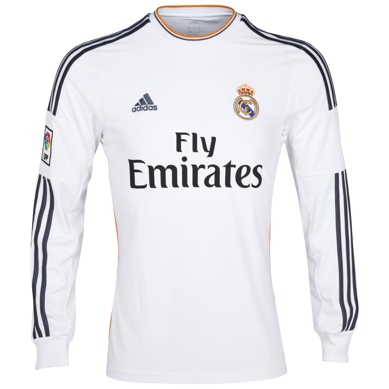 Real Madrid Home Shirt 2013/14 - Long Sleeve