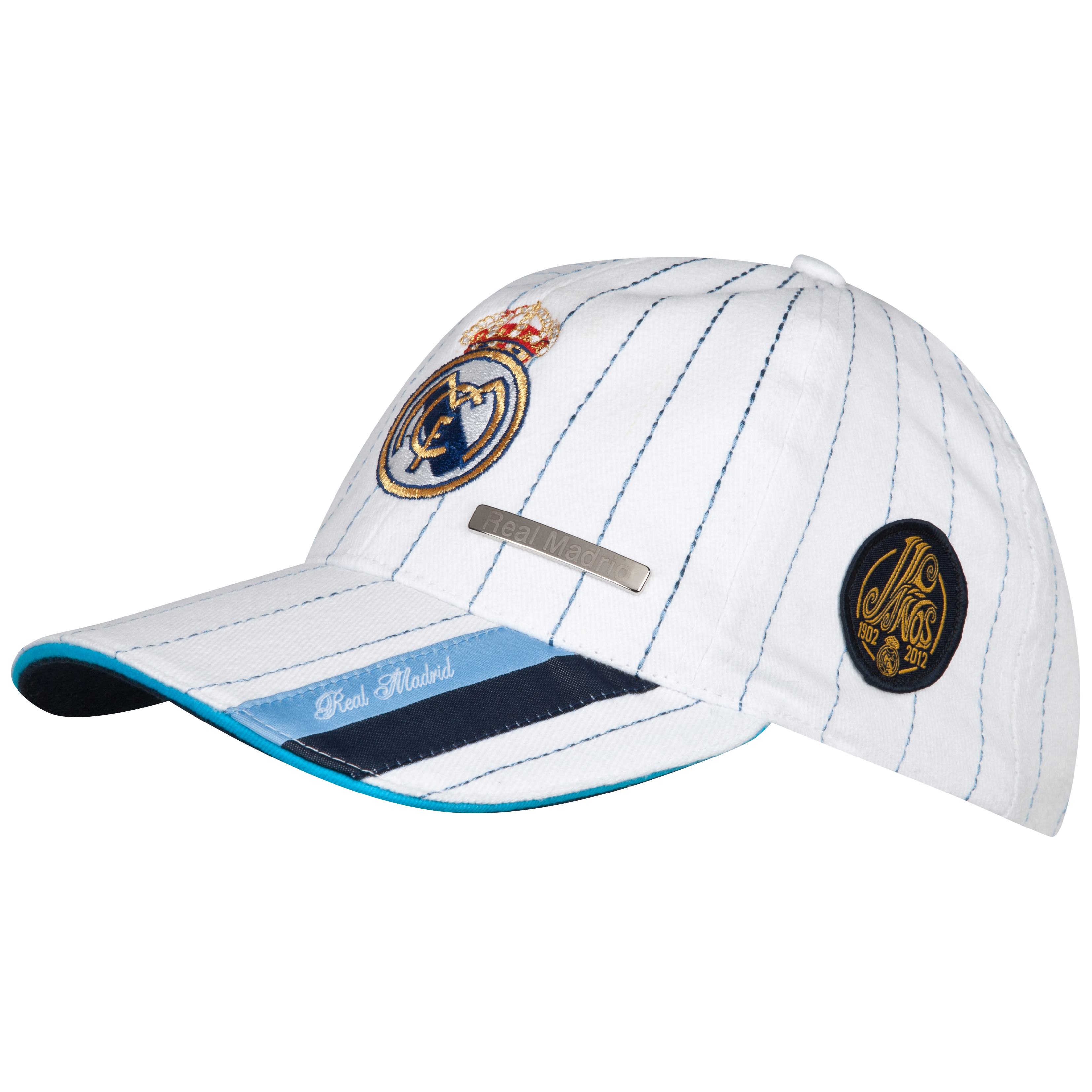 Real Madrid Gorra con Escudo - Adultos Blanca
