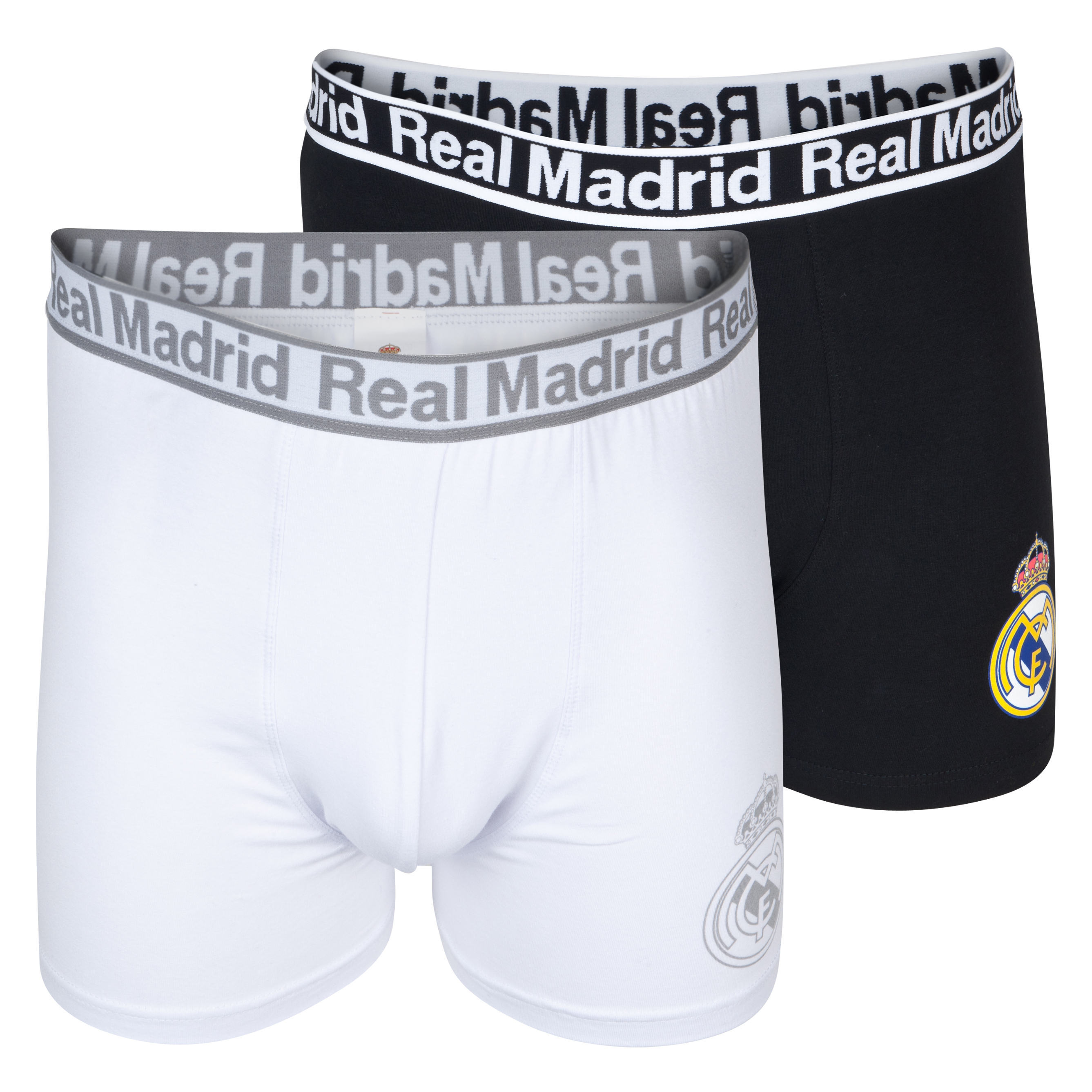 Real Madrid 2 PK Boxer Shorts - Mens Black
