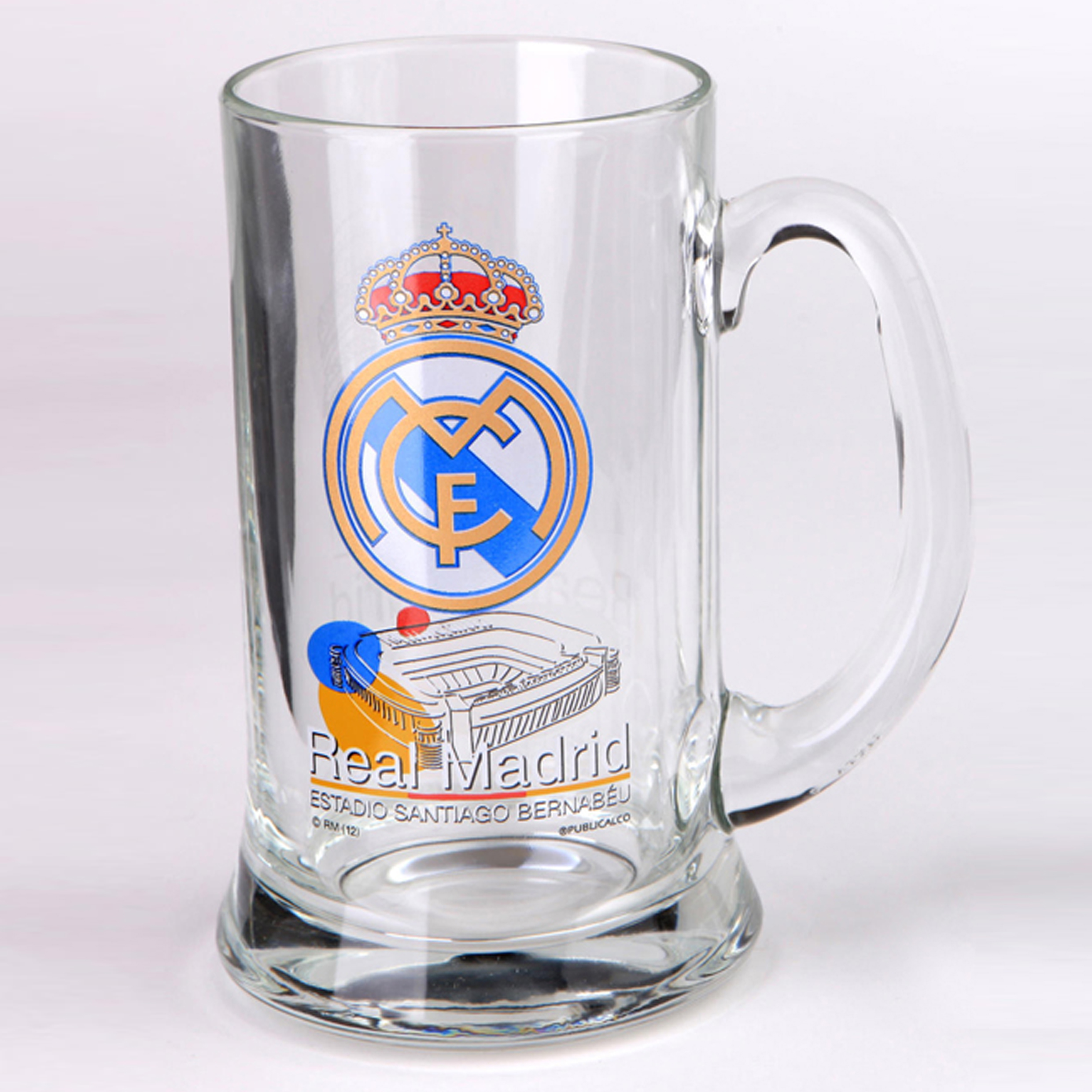 Real Madrid Bernabeu Glass Pint Tankard