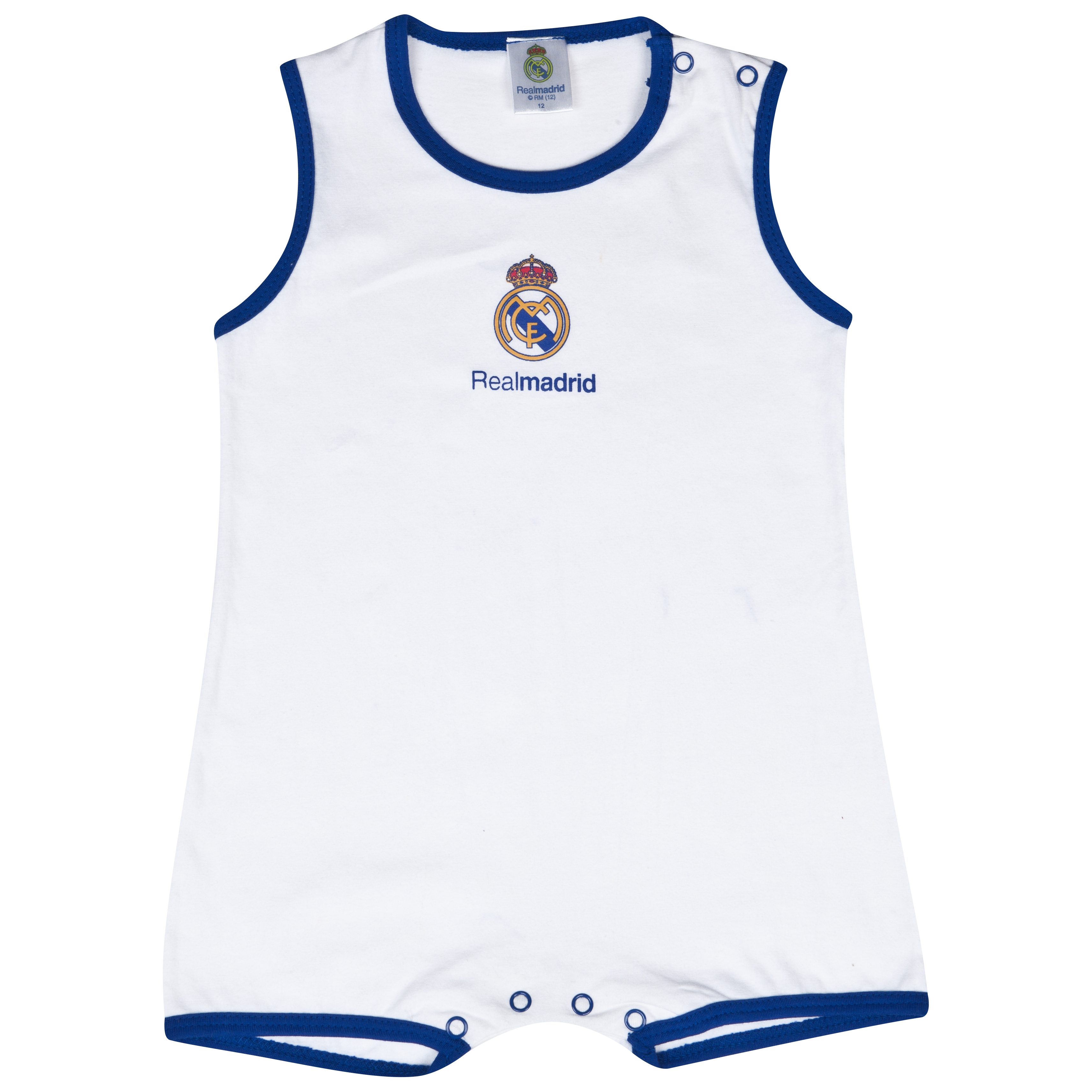 Real Madrid Babygrow - Baby White