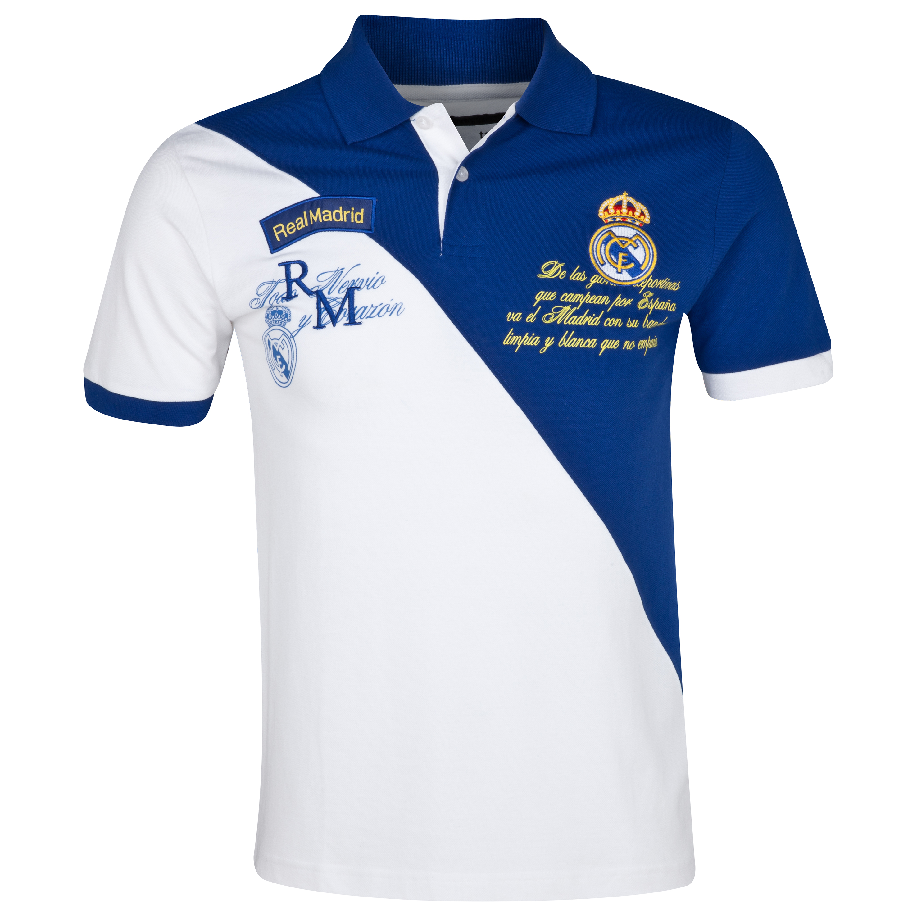 Real Madrid Diagonal Polo - Mens White
