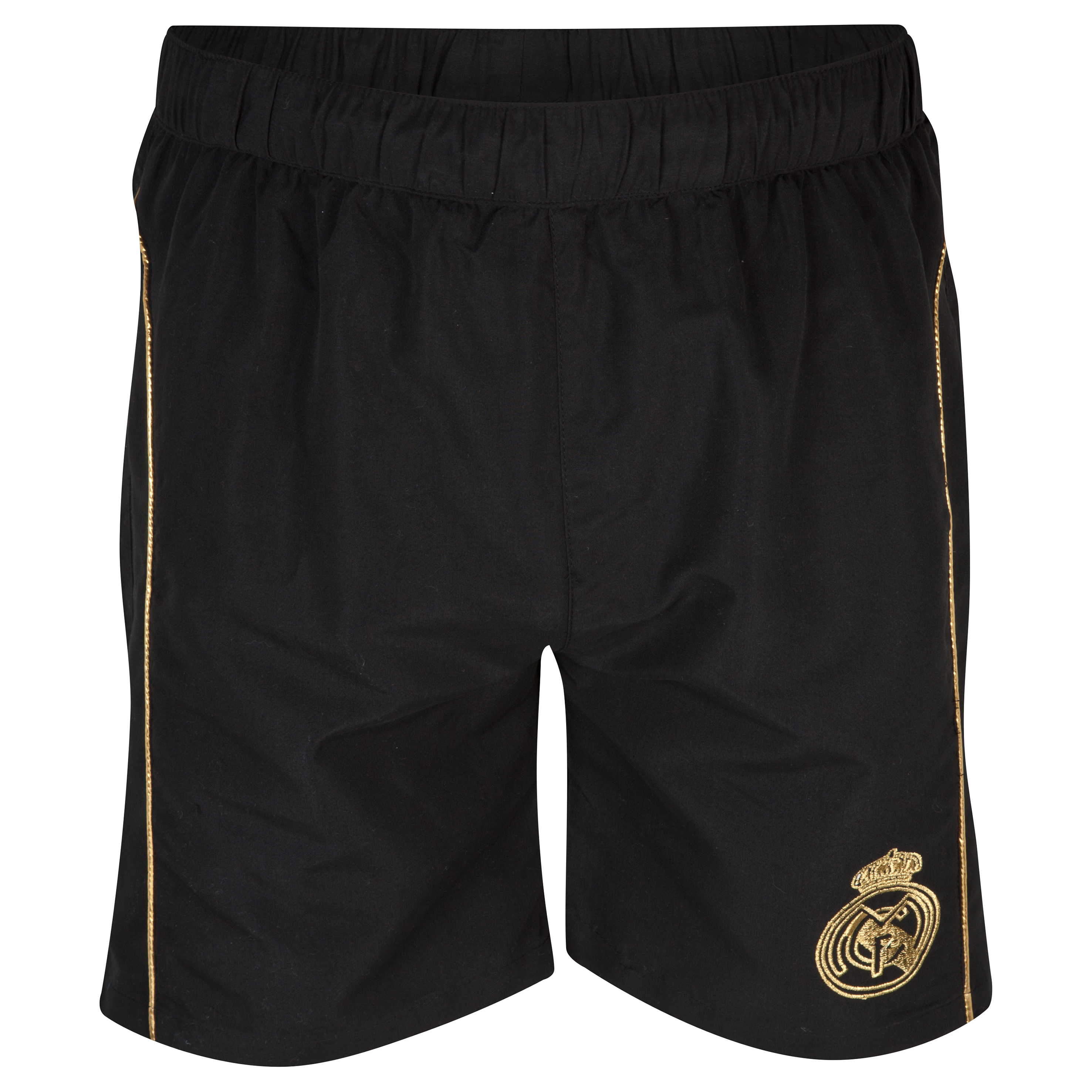 Real Madrid Crest Swim Shorts - Mens Black