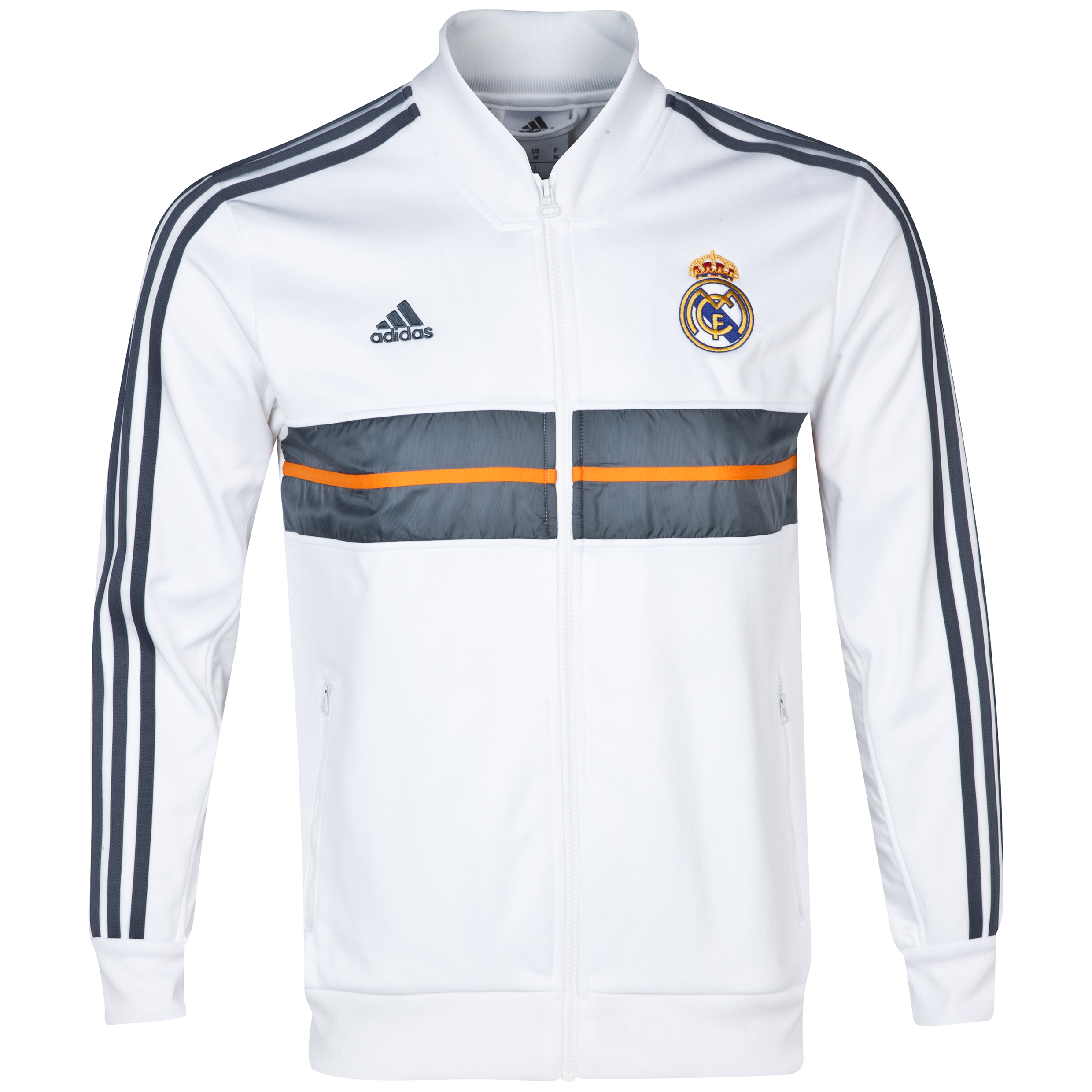 Real Madrid Anthem Jacket - Mens White