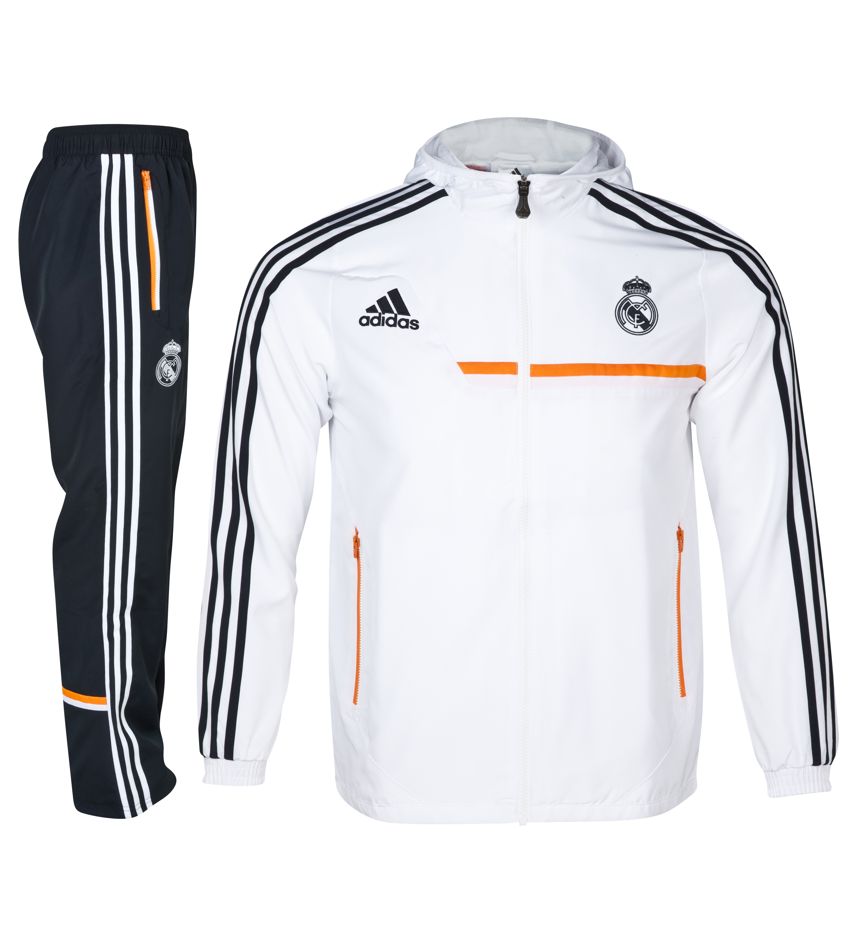 Real Madrid Training Hooded Presentation Suit - Kids White