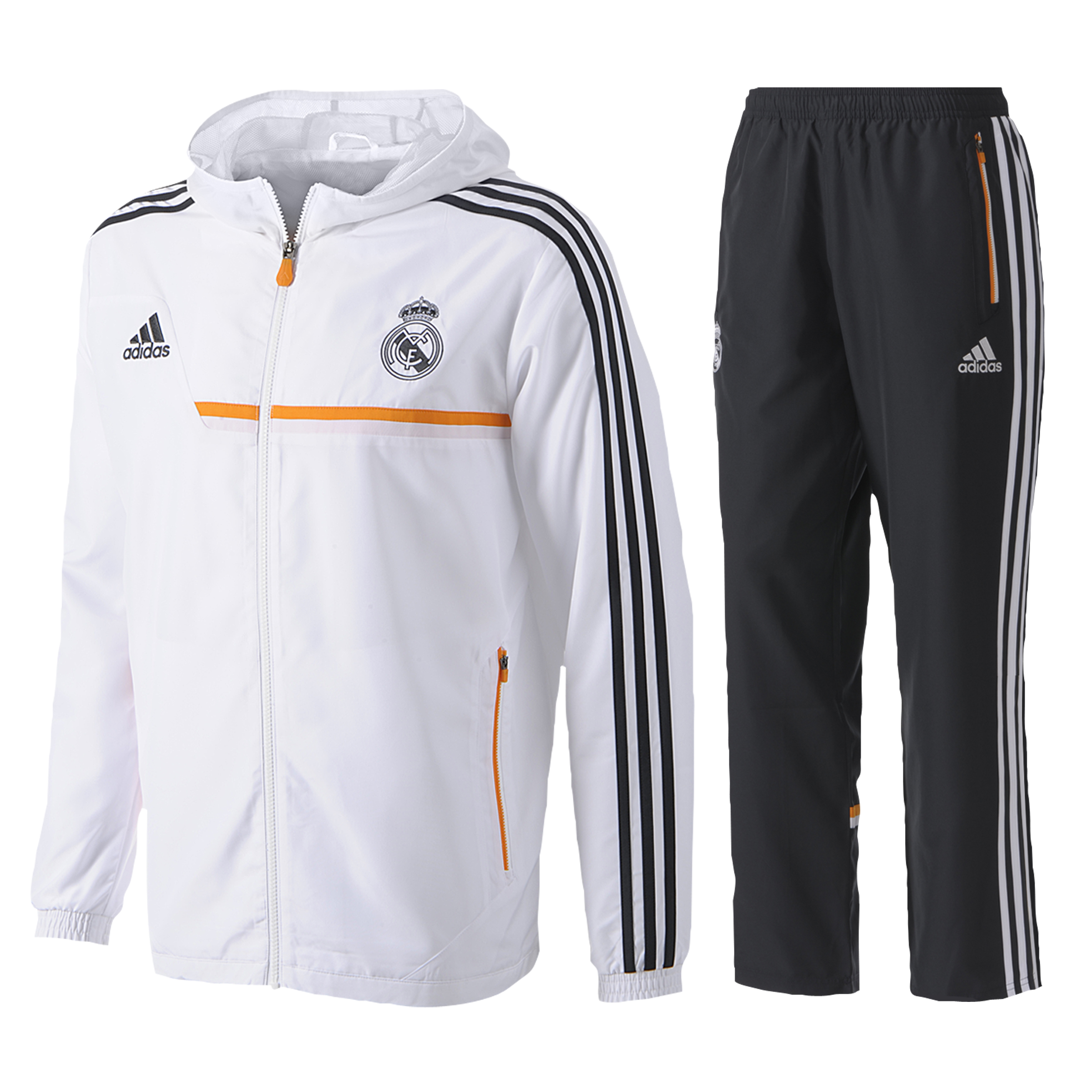 Real Madrid Training Hooded Presentation Suit - Infants White