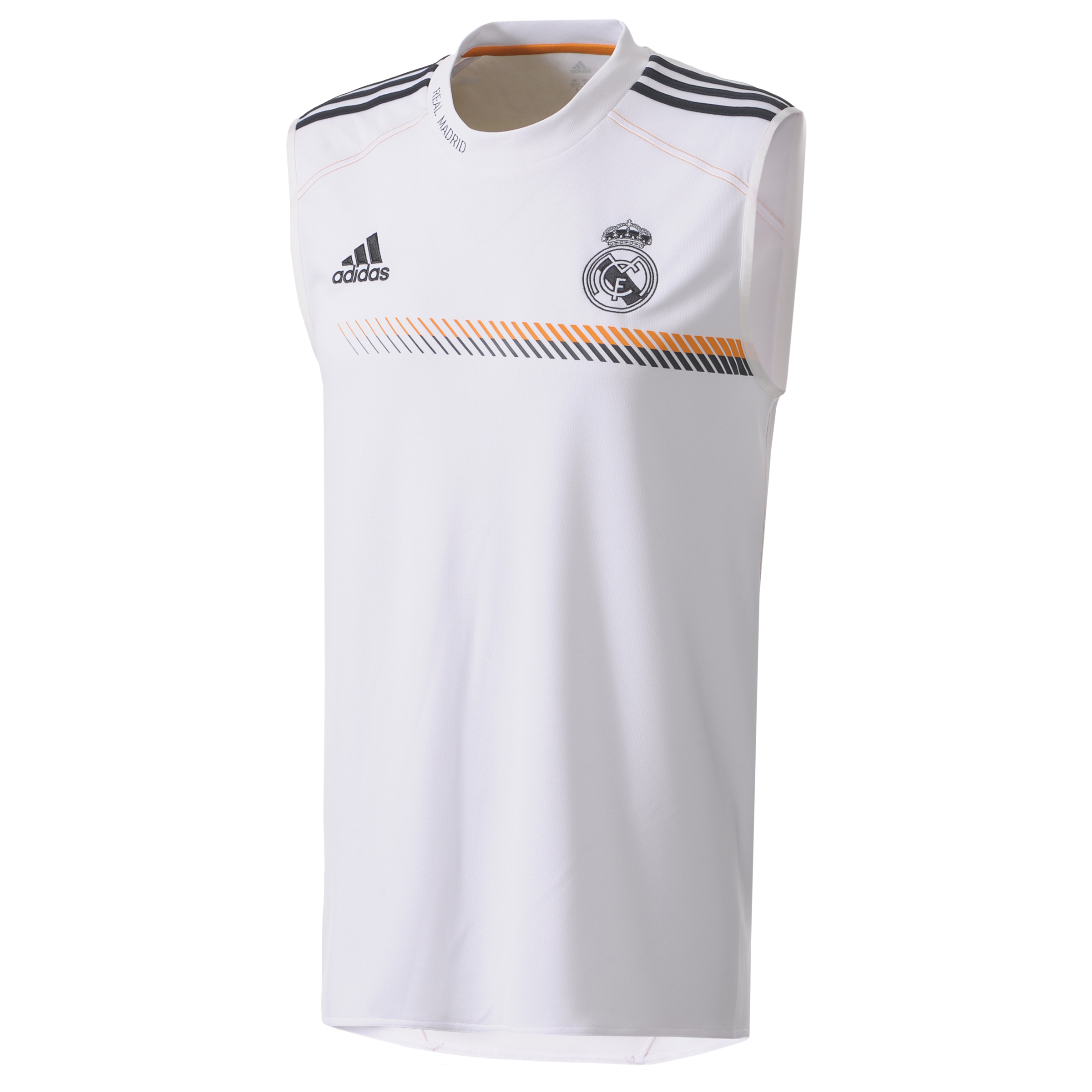 Real Madrid Training Sleeveless Jersey - Mens White