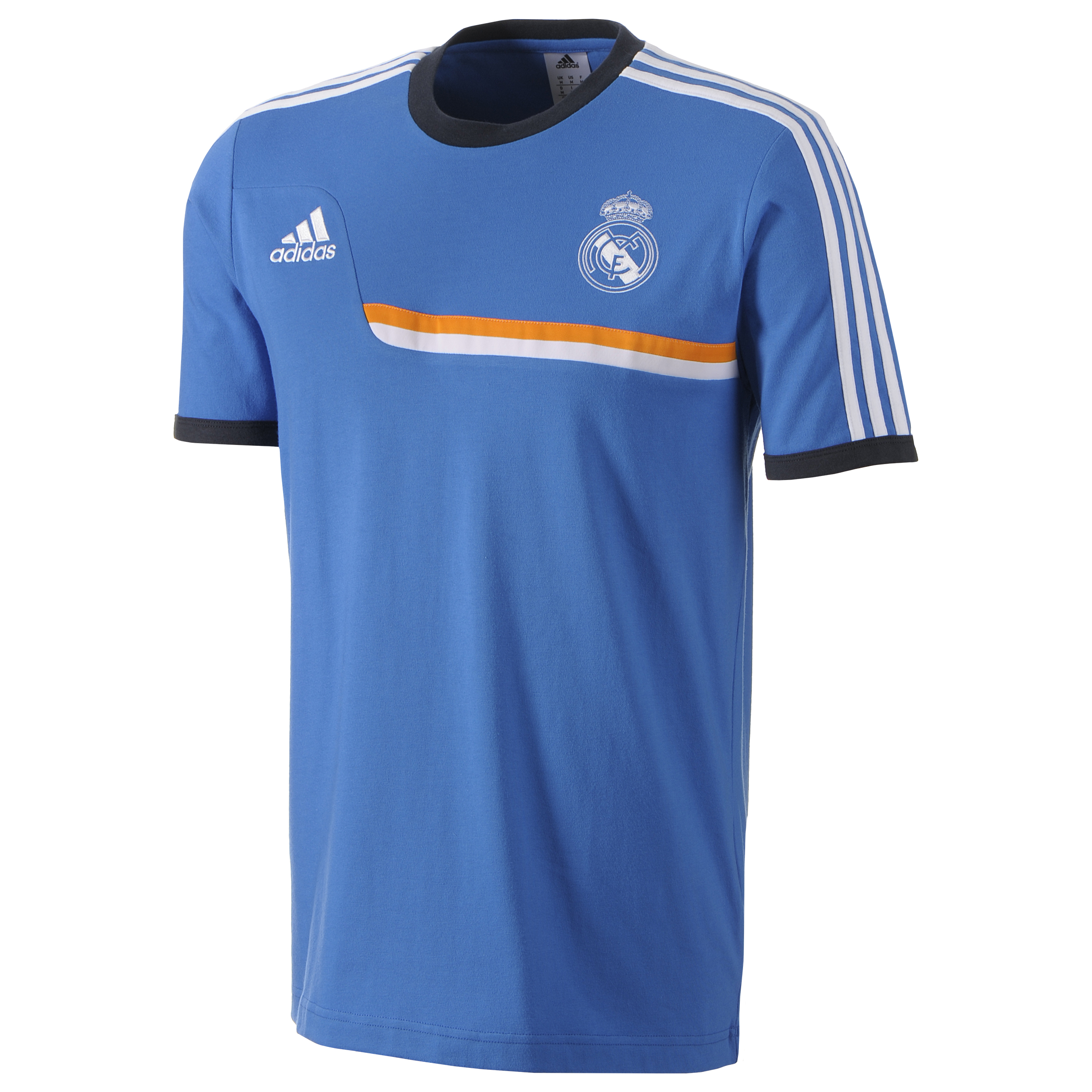 Real Madrid Training T-Shirt - Mens Blue
