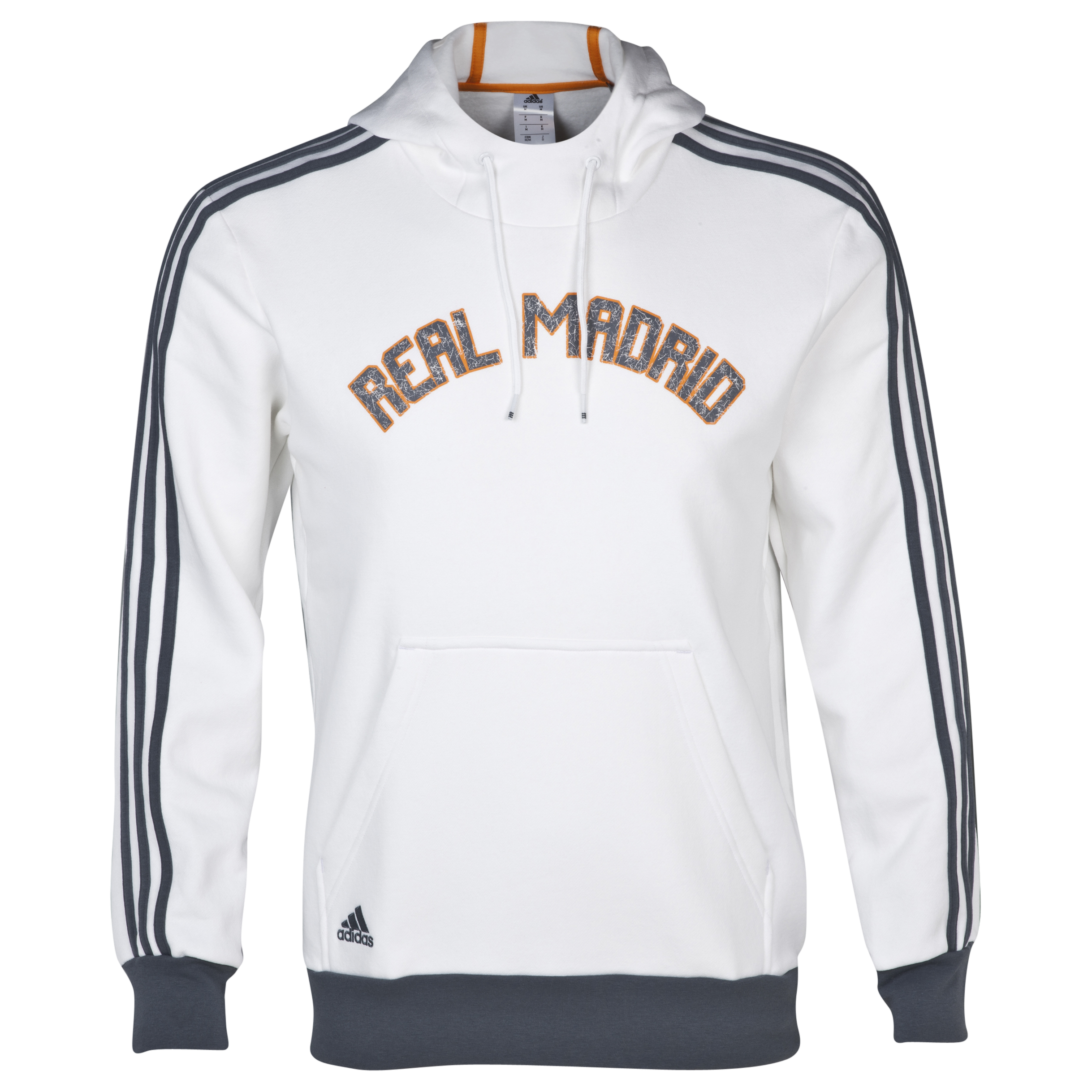 Real Madrid Core Hooded Sweatshirt - Mens White