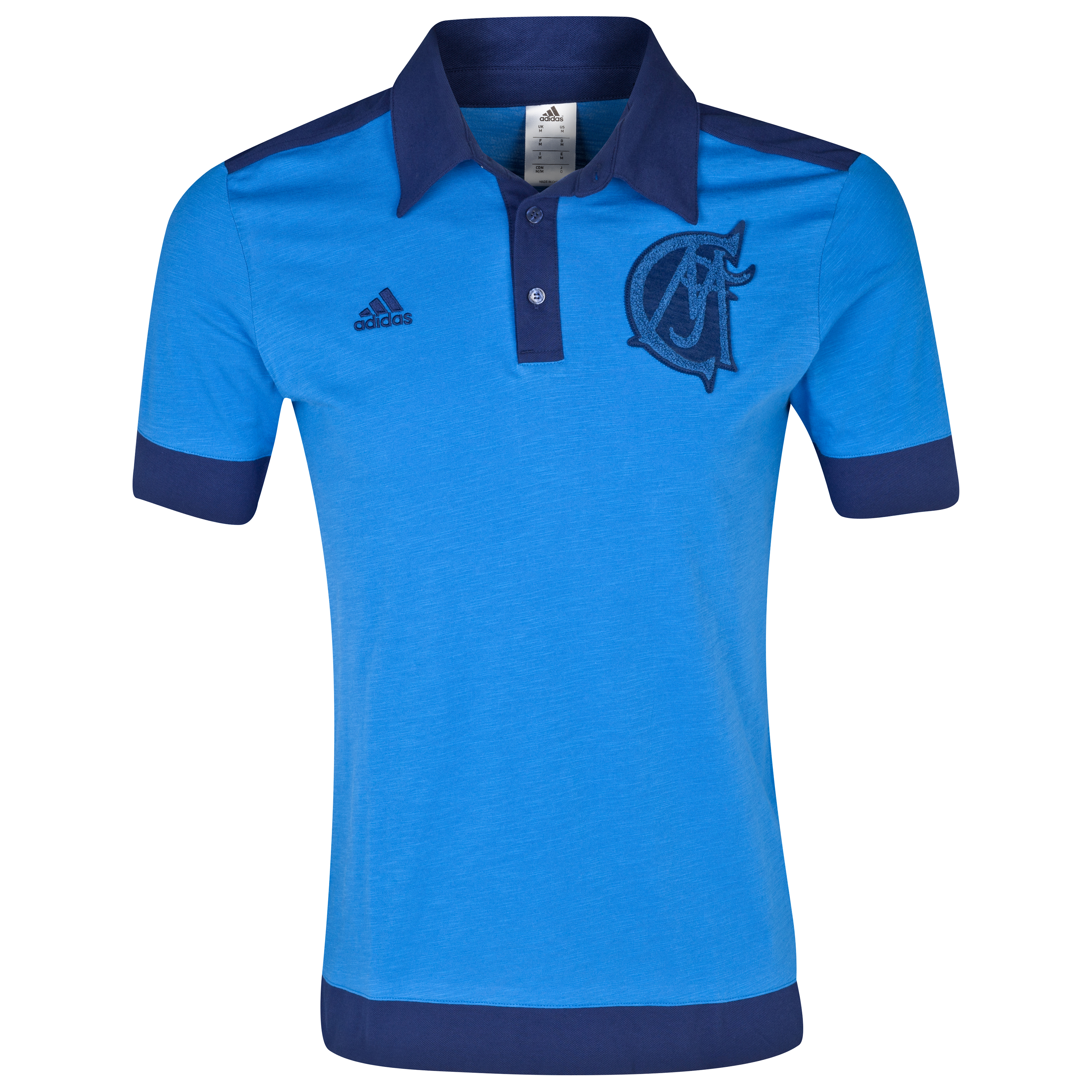 Real Madrid Authentic Polo - Mens Blue