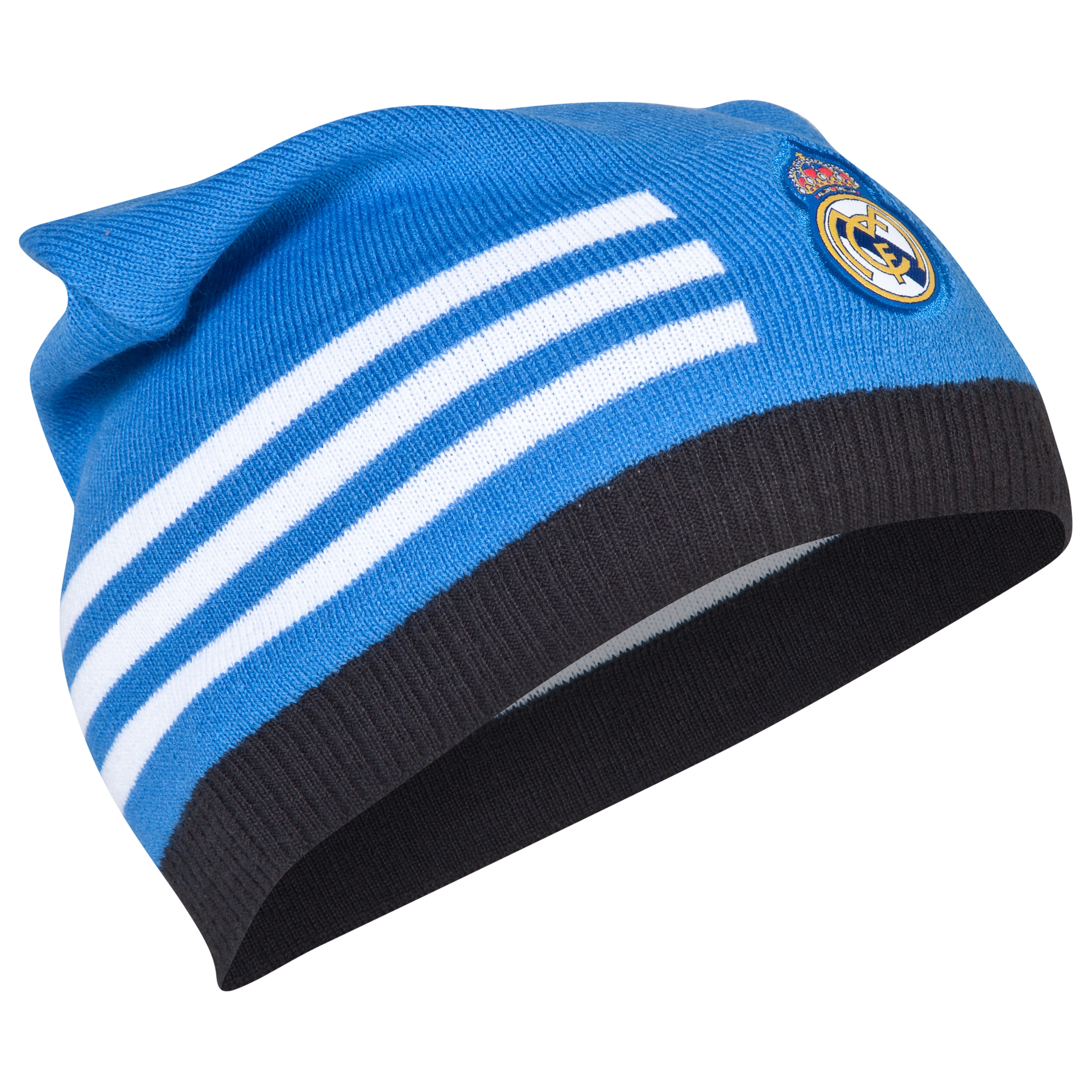 Real Madrid 3 stripe Beanie - Mens Blue