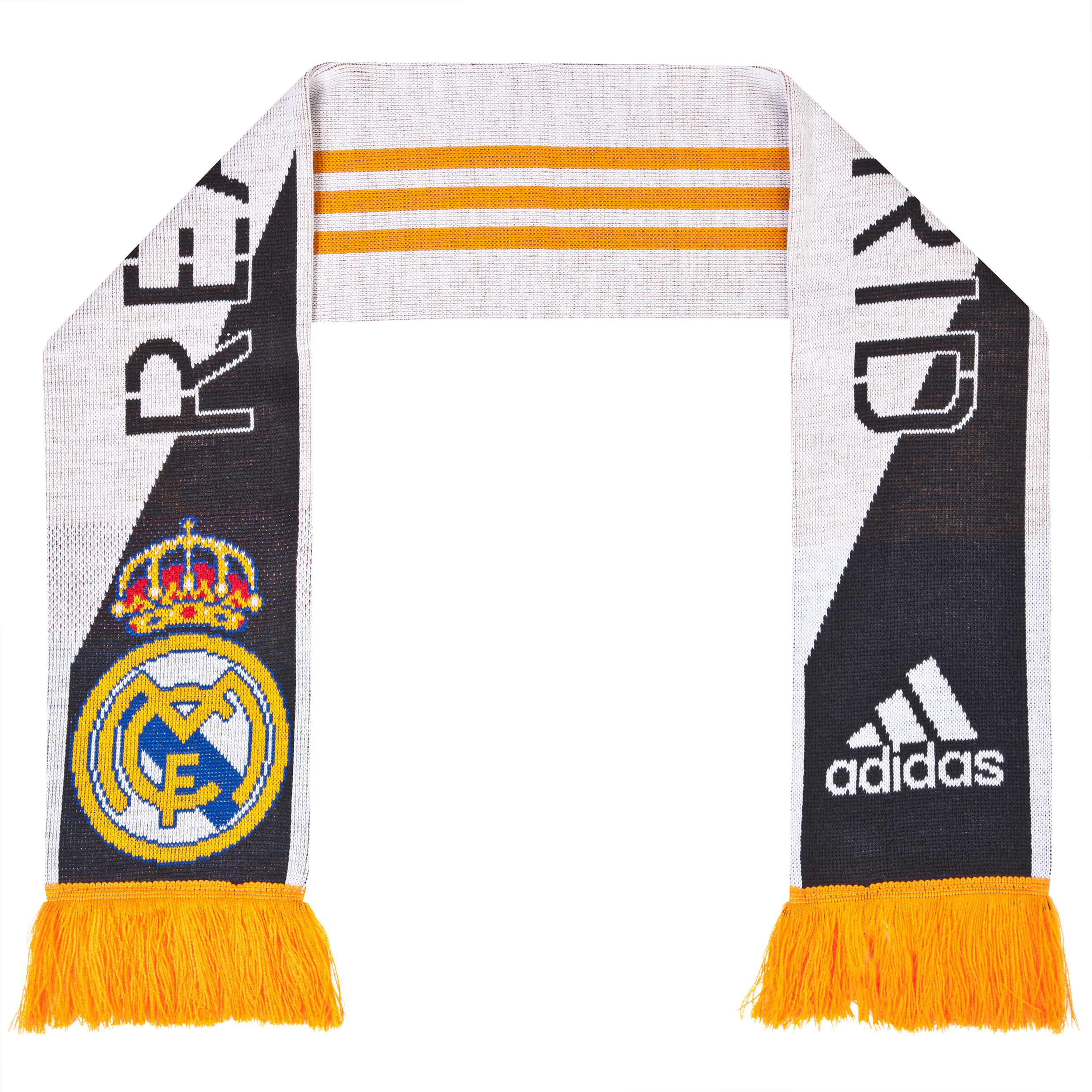Real Madrid 3 Stripe Scarf 1 - Mens White
