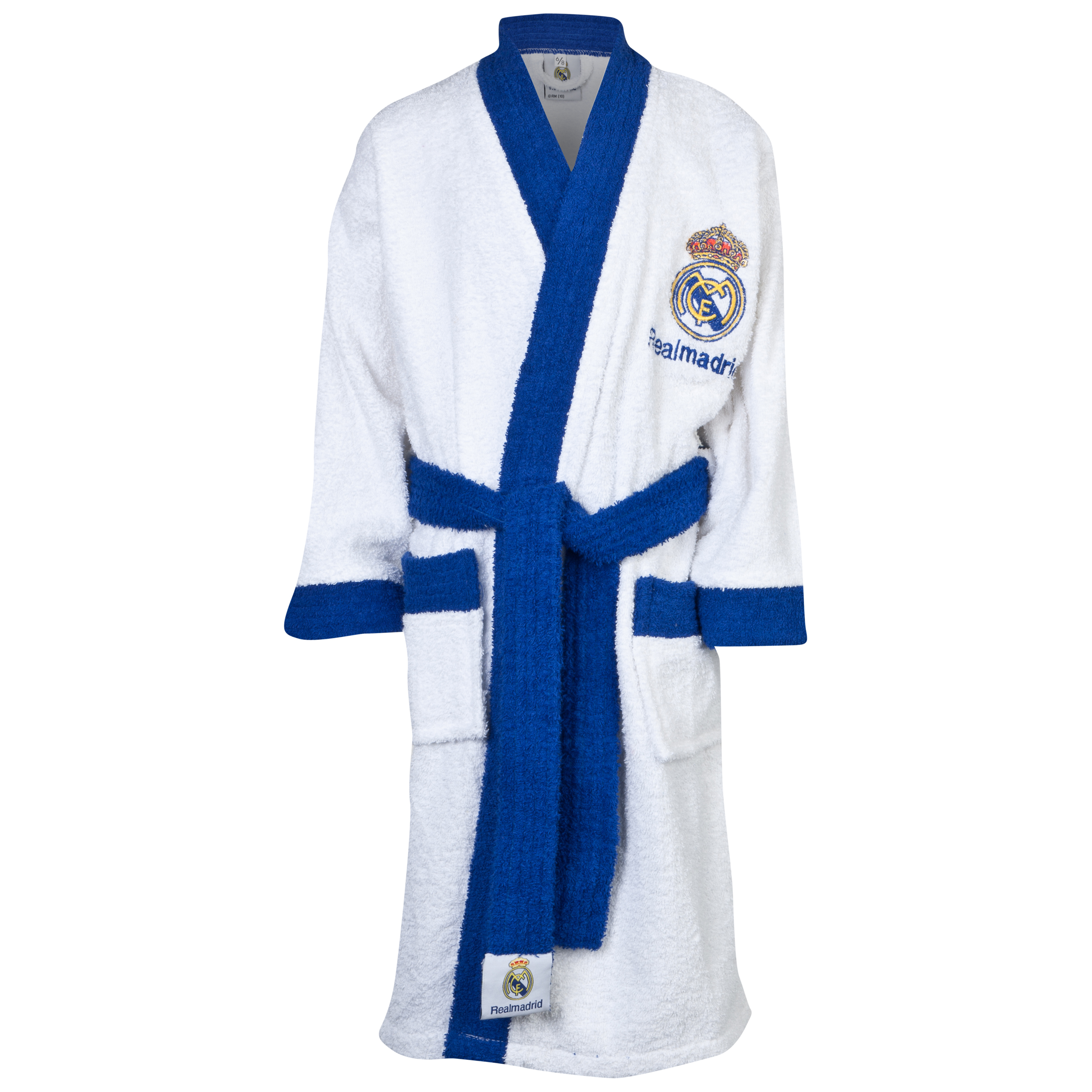 Real Madrid Crest Robe - Kids White