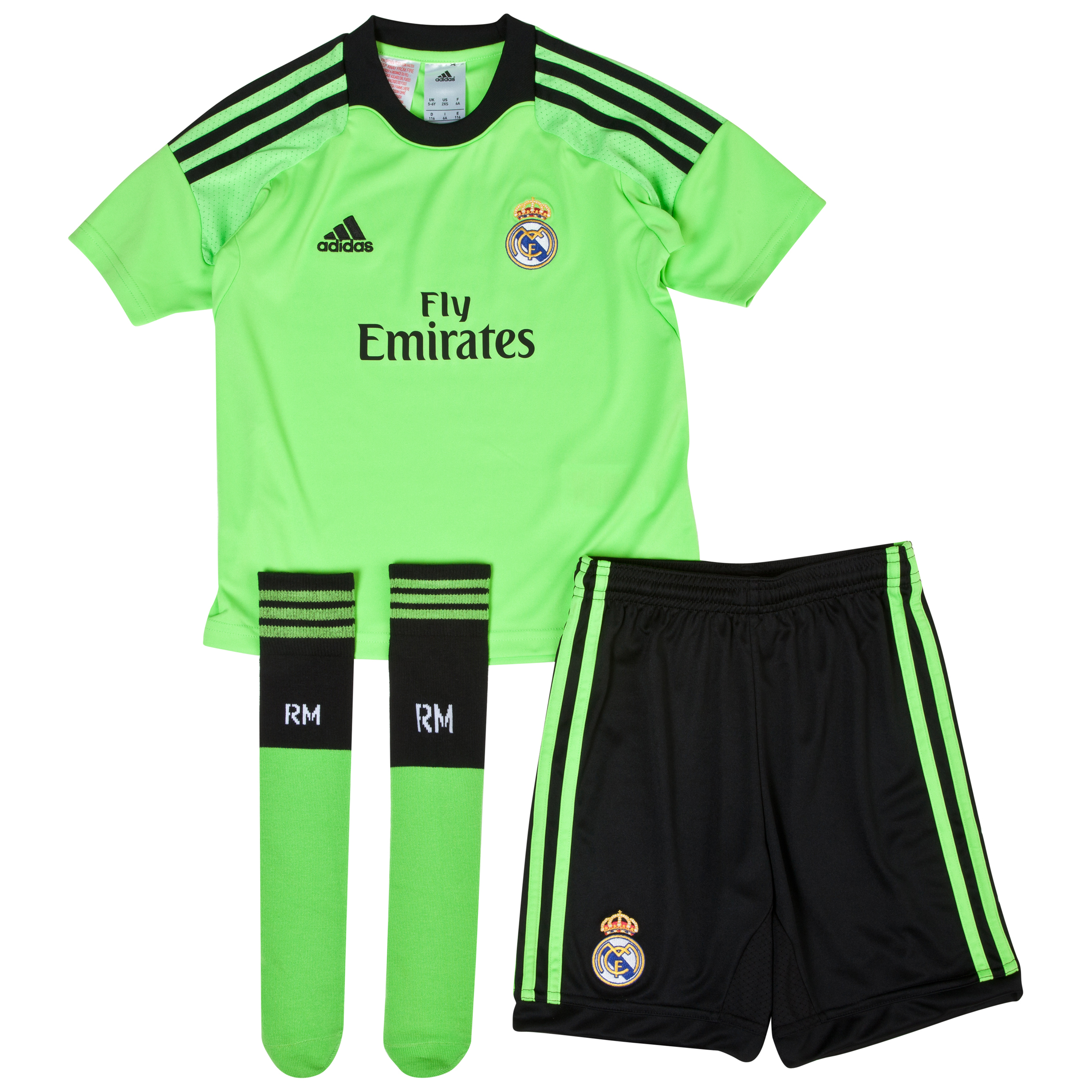 Real Madrid Away Goalkeeper Mini Kit 2013/14