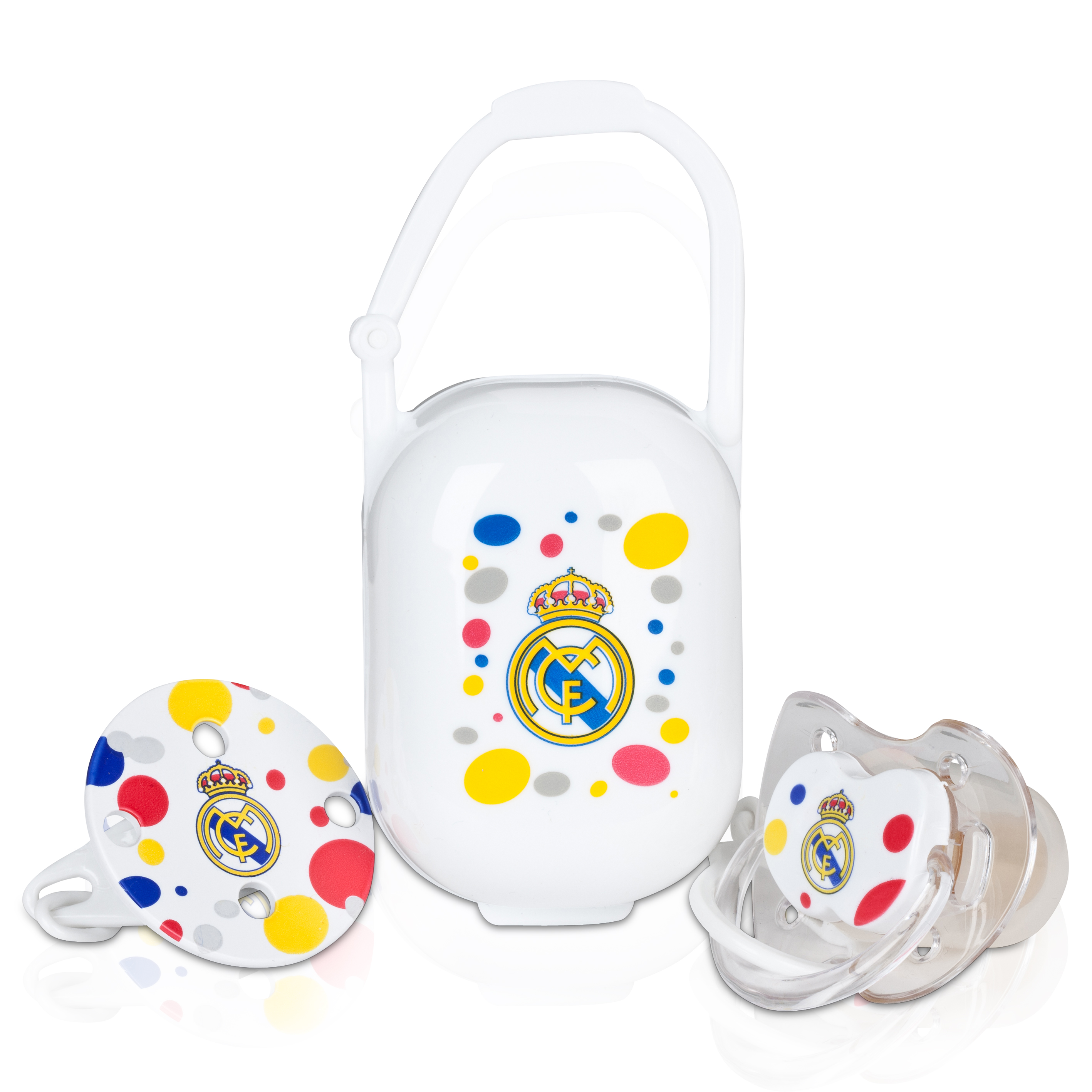 Real Madrid Baby Pacifier Set White
