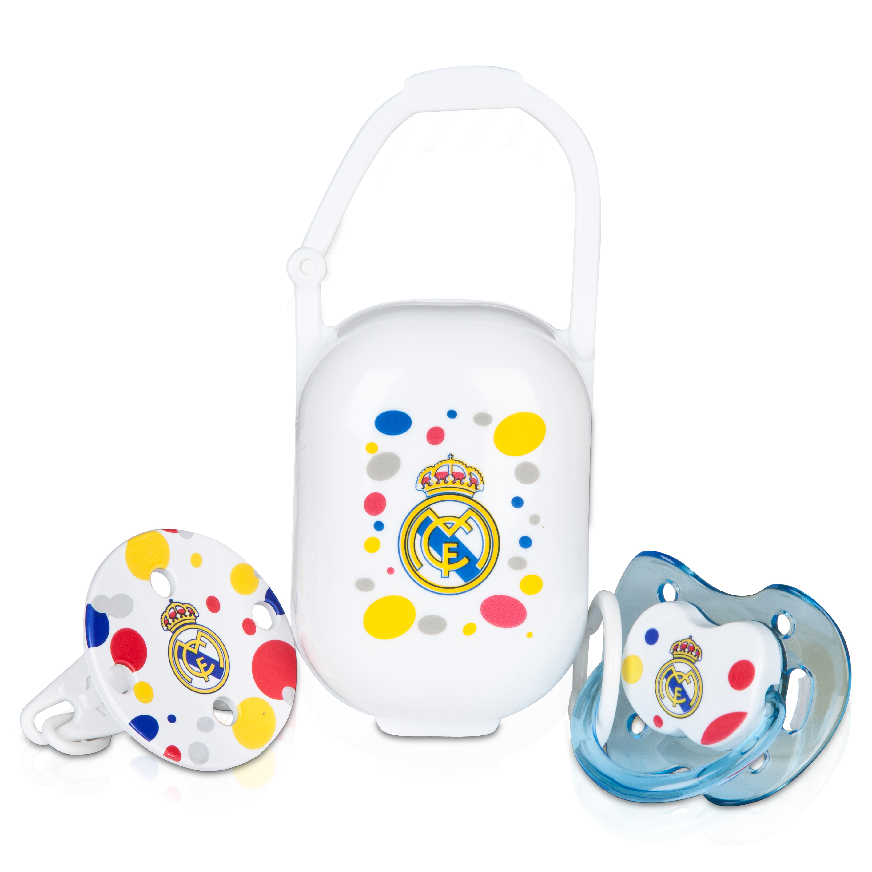 Real Madrid Baby Pacifier Set Blue