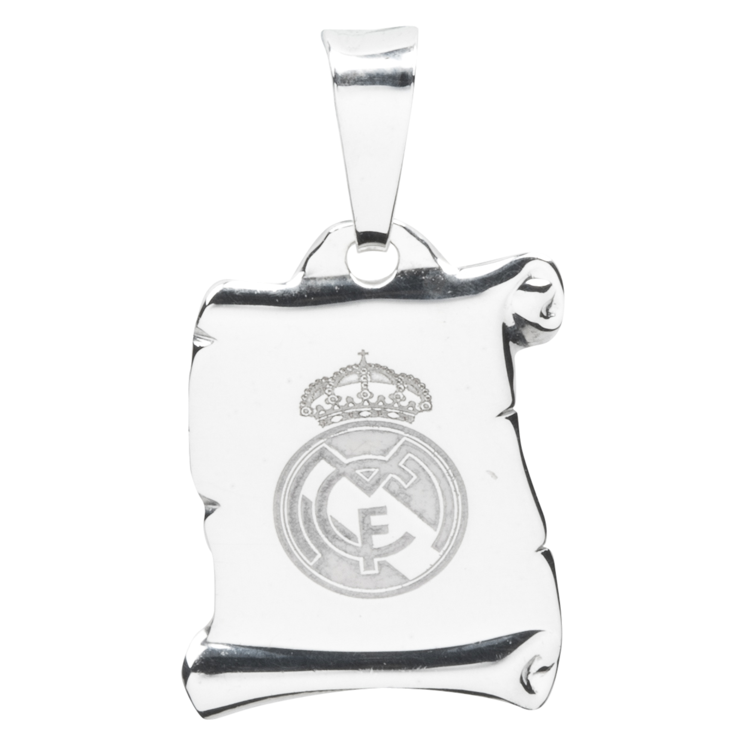 Real Madrid Scroll Crest Pendant Silver