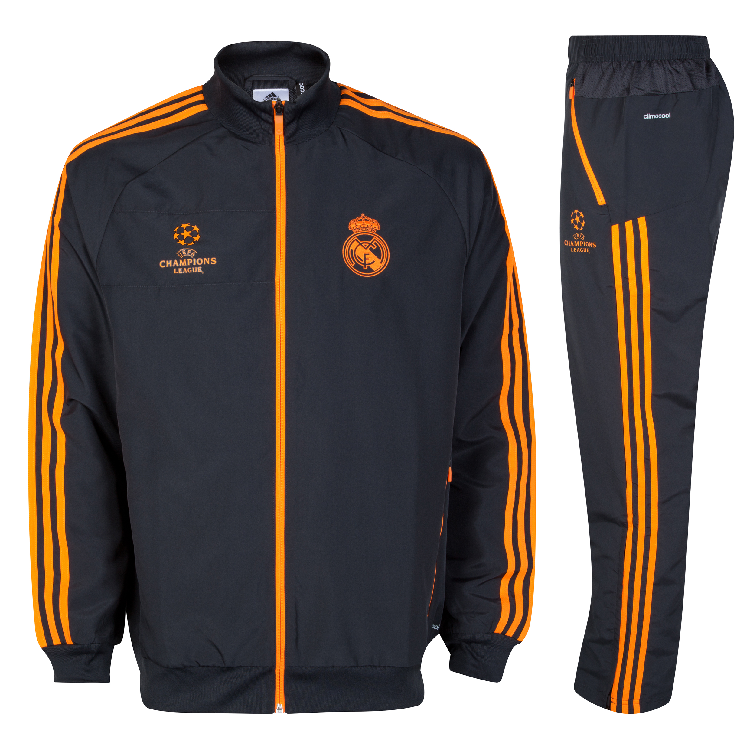 Real Madrid UCL Training Presentation Suit - Dark Shale/Zest