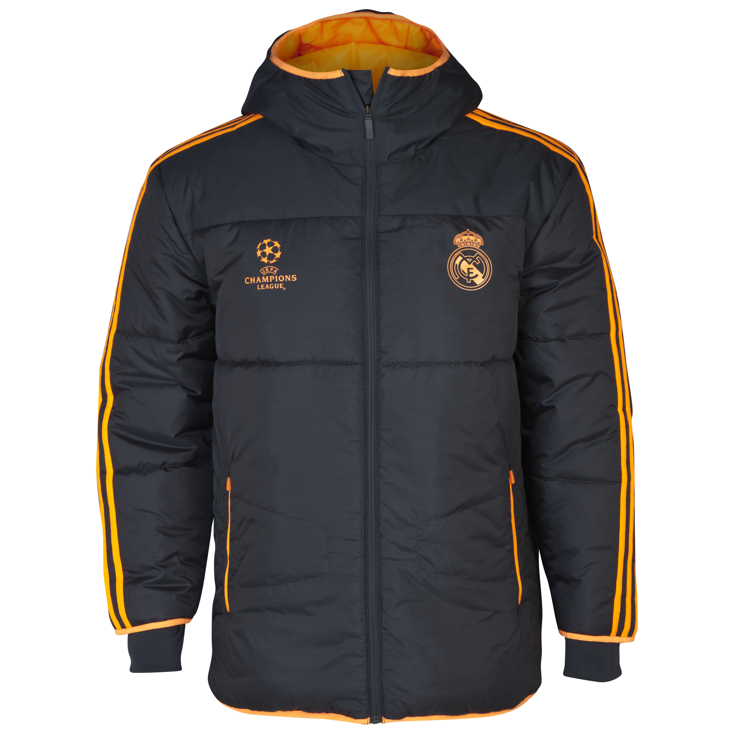 Real Madrid UCL Training Padded Jacket - Dark Shale/Zest