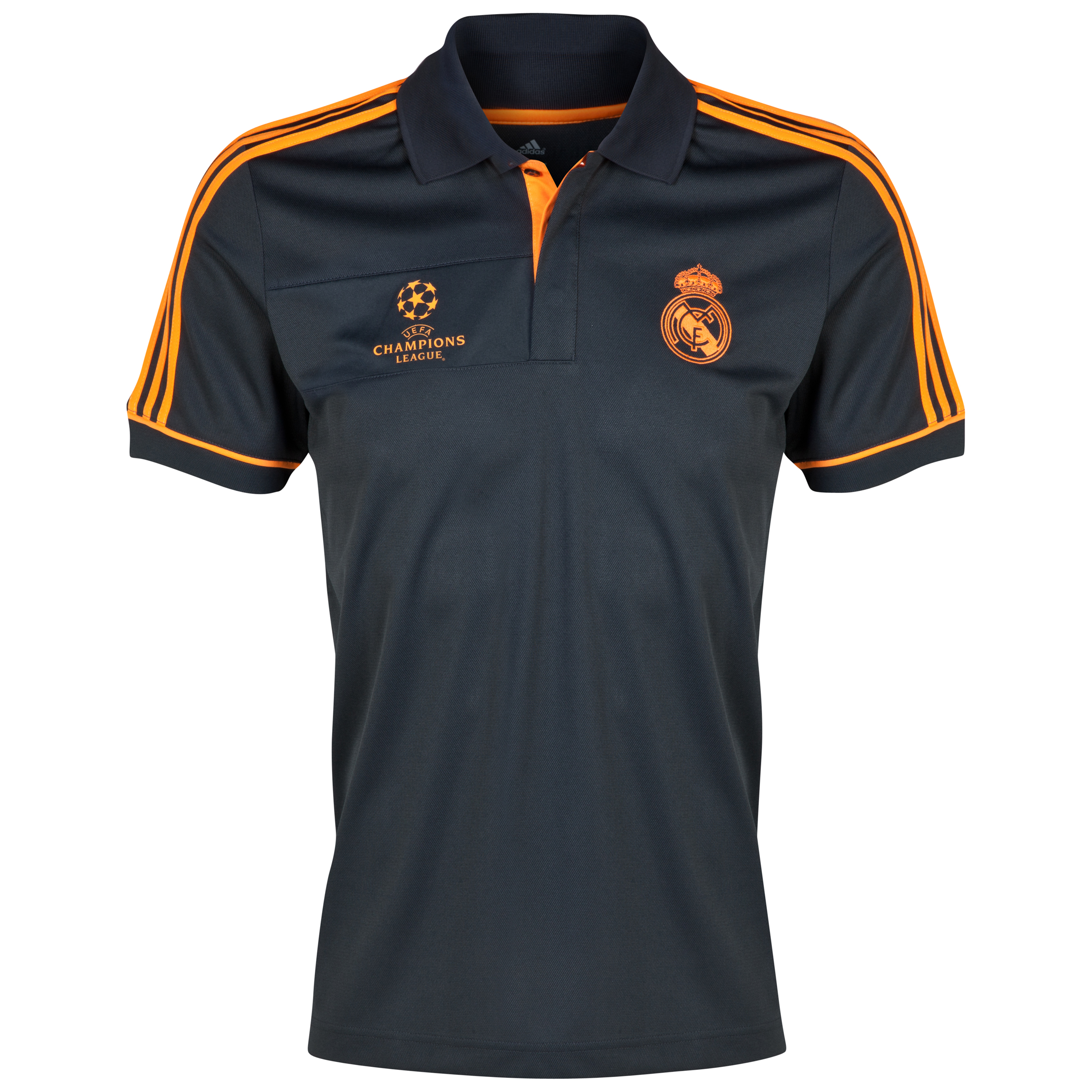 Real Madrid UCL Training Polo - Dark Shale/Zest