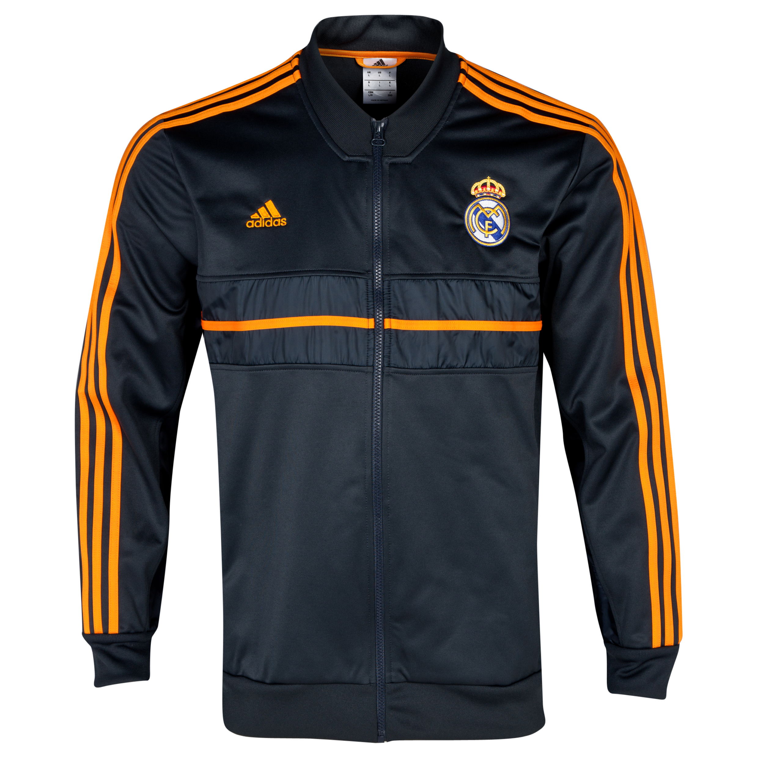 Real Madrid Anthem Jacket - Dark Shale/Zest Dk Blue
