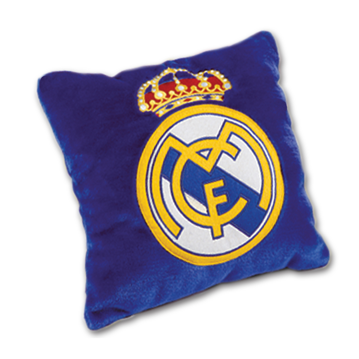 Real Madrid 3D Crest Velvet Cushion 37 x 37cm