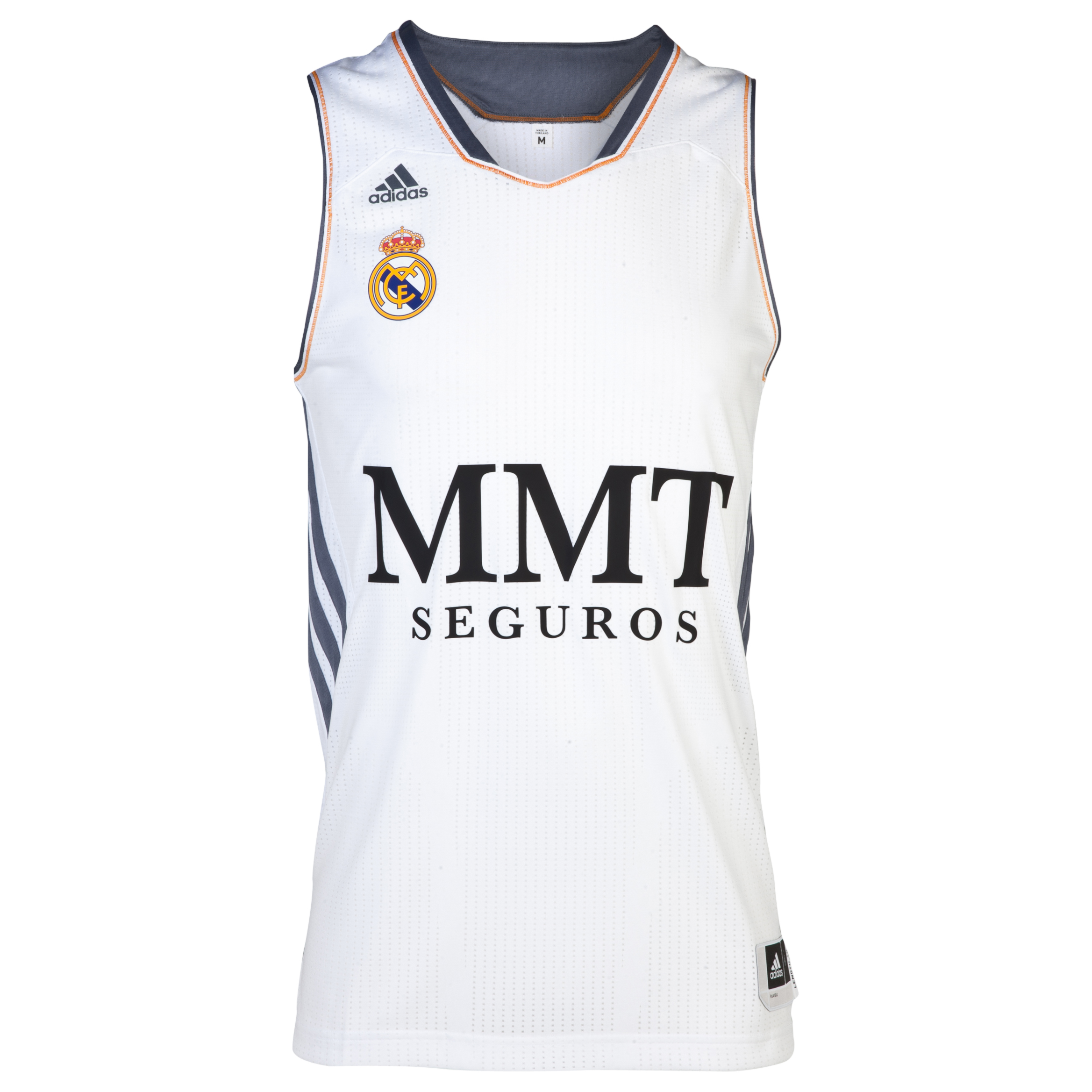 Real Madrid Home Basketball Jersey 2013/14 White
