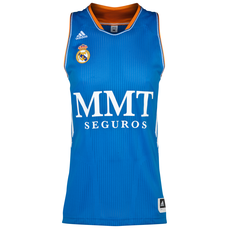 Real Madrid Away Basketball Jersey 2013/14 Blue