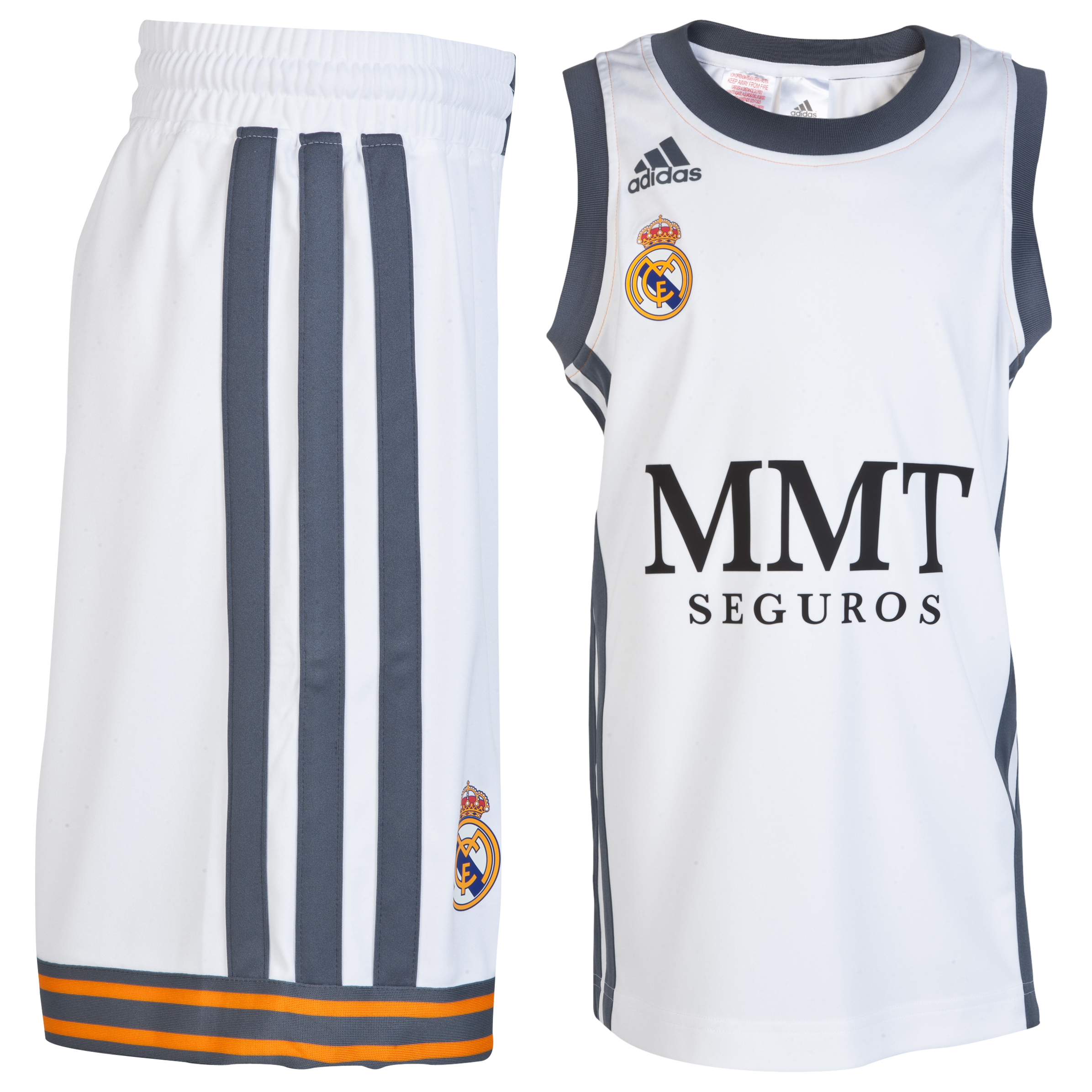 Real Madrid Home Basketball Kit 2013/14 - Kids White