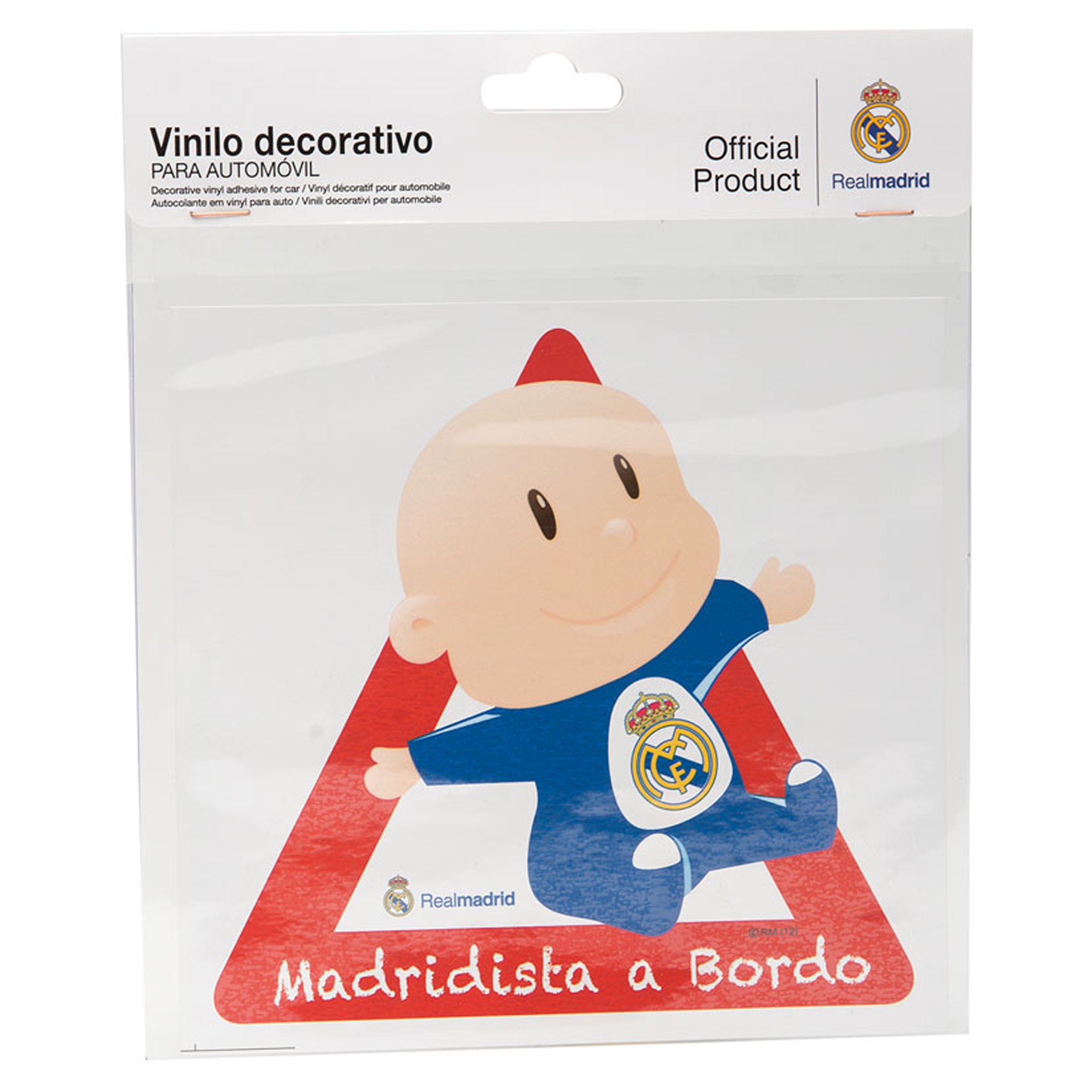 Real Madrid Car Baby On Board Sticker
