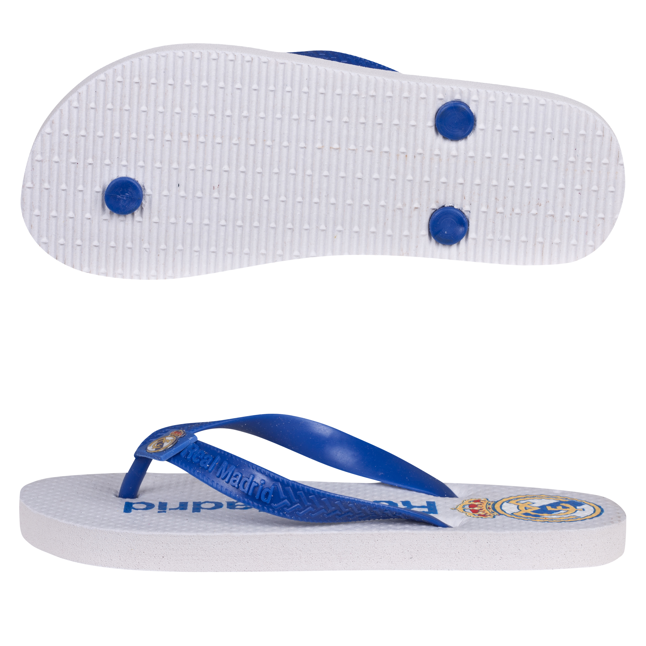 Real Madrid Crest Flip Flops - Kids
