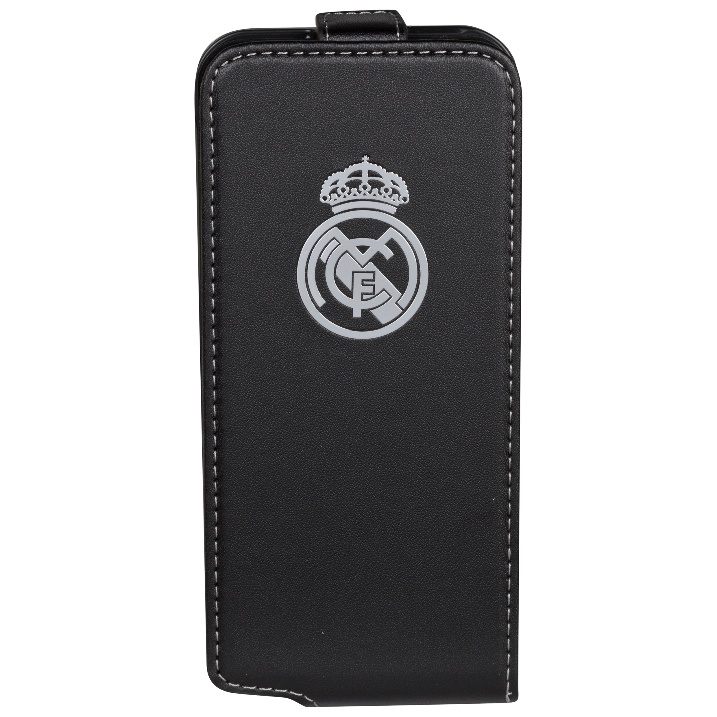 Real Madrid Iphone 5 Crest Flip Case Black