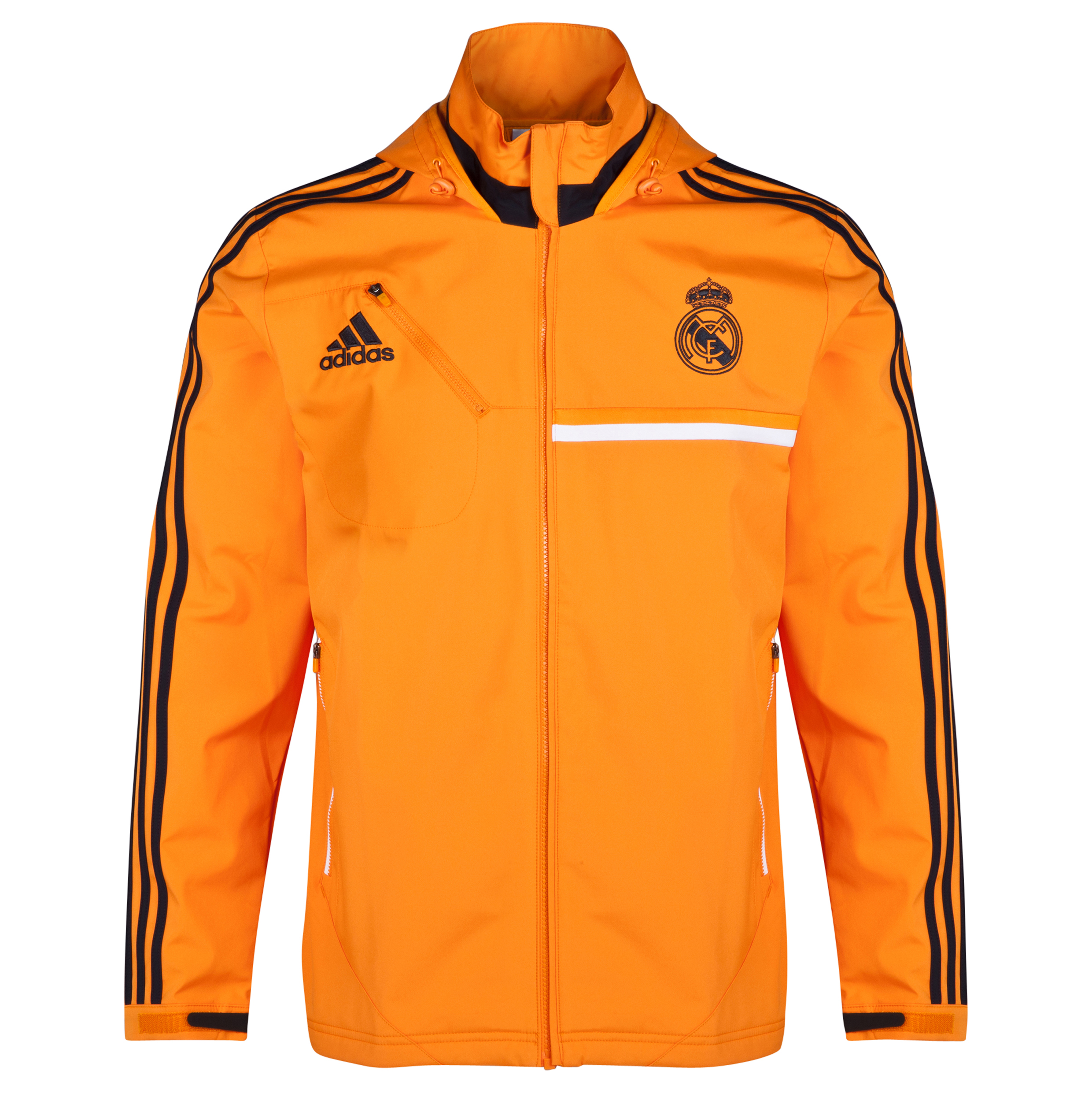 Real Madrid Training Travel Jacket Orange