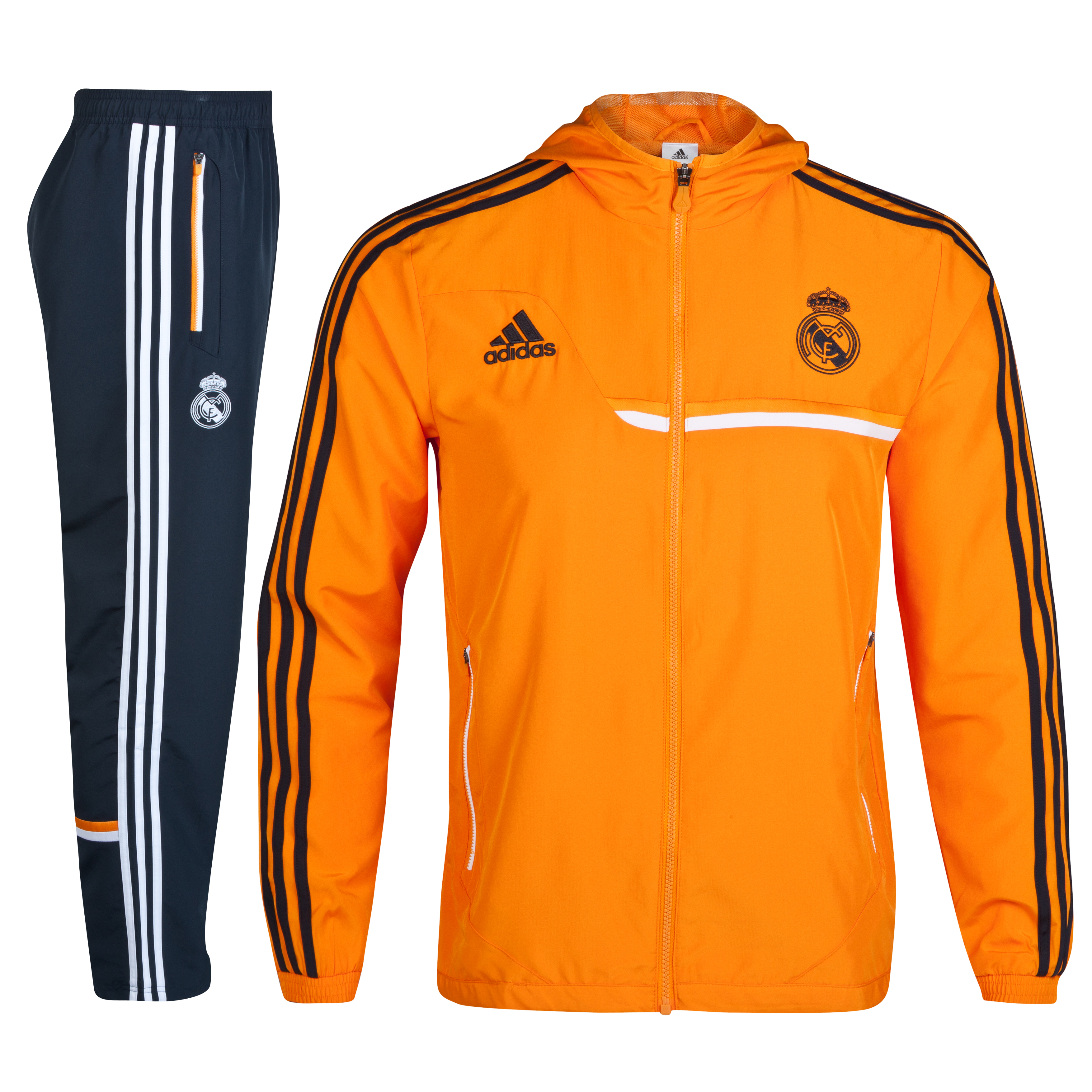 Real Madrid Training Presentation Suit Orange