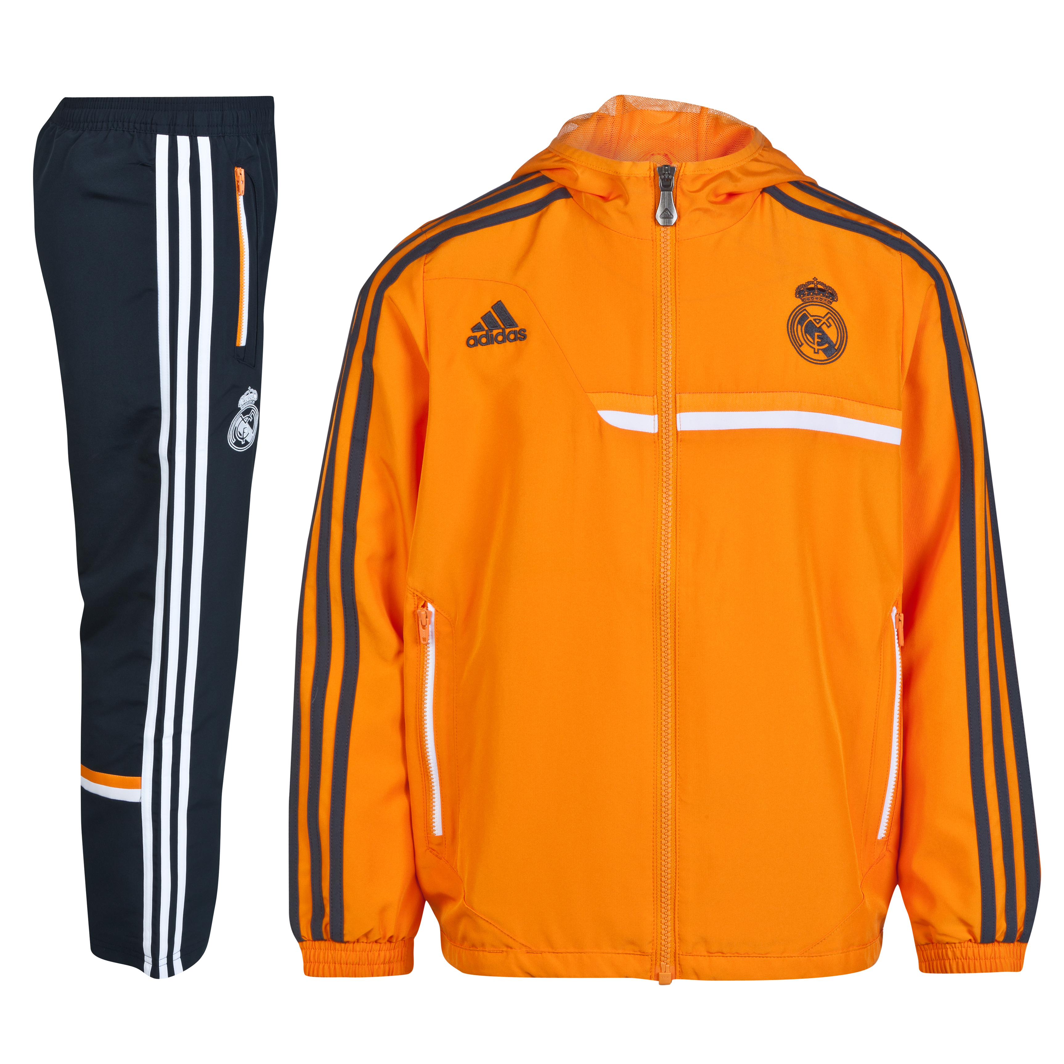 Real Madrid Training Presentation Suit - Kids Orange
