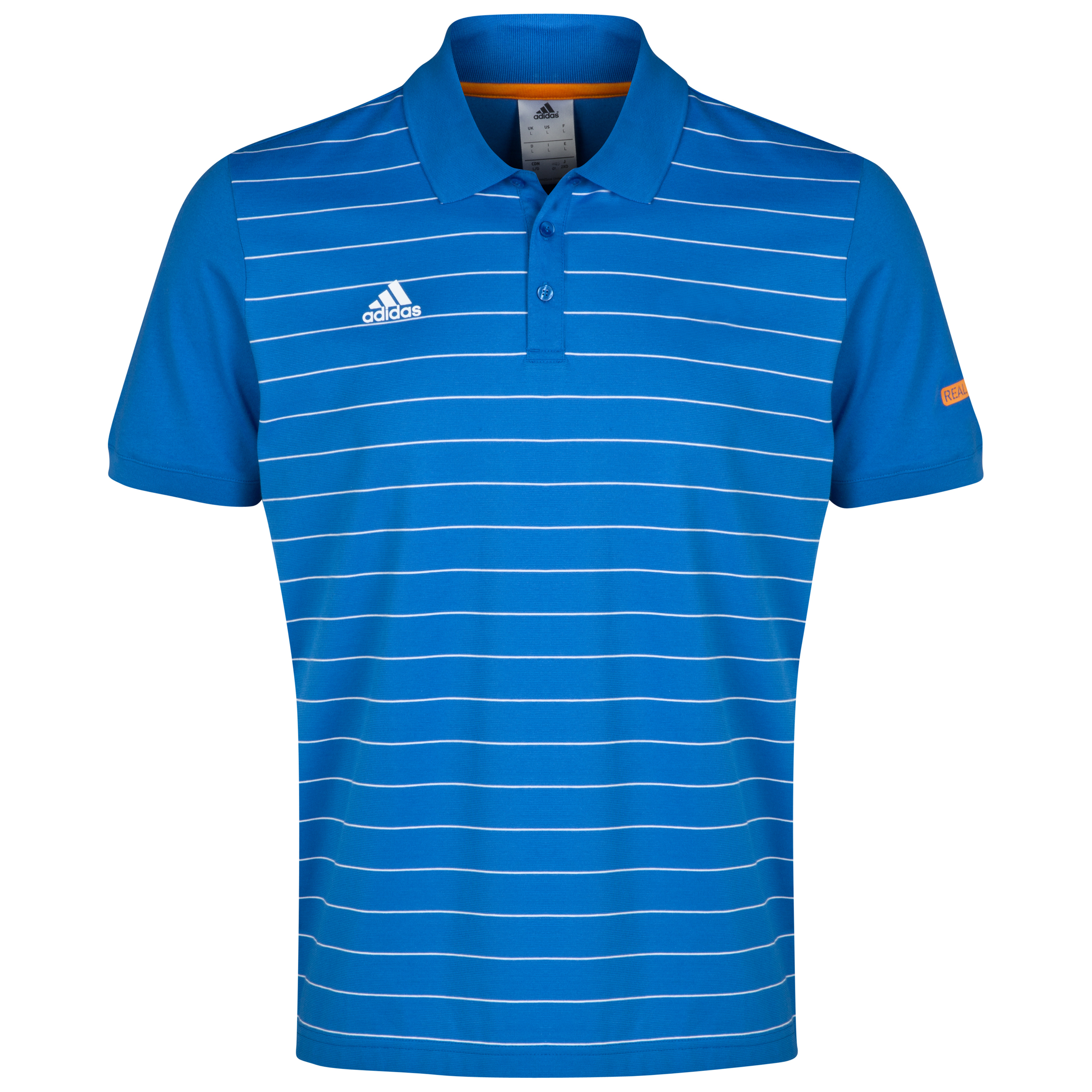 Real Madrid Stripe Polo Blue