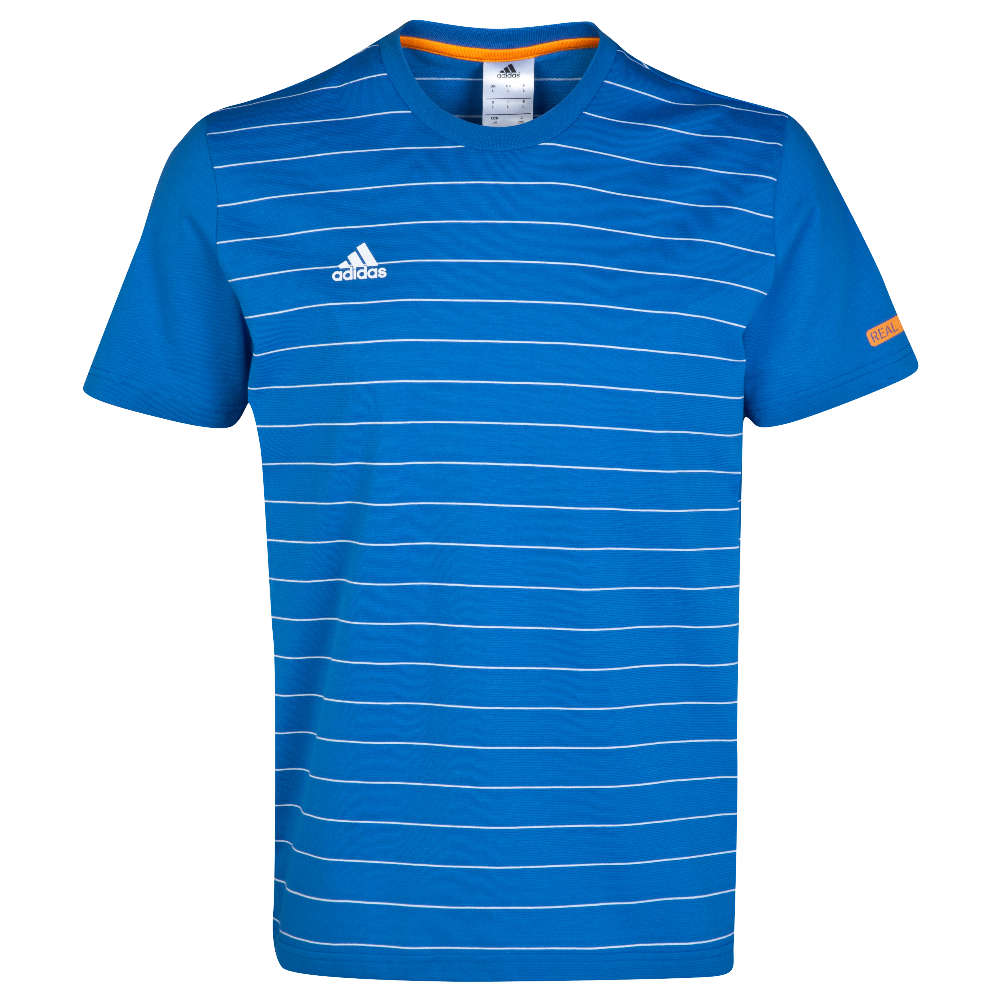 Real Madrid Stripe T-Shirt Blue