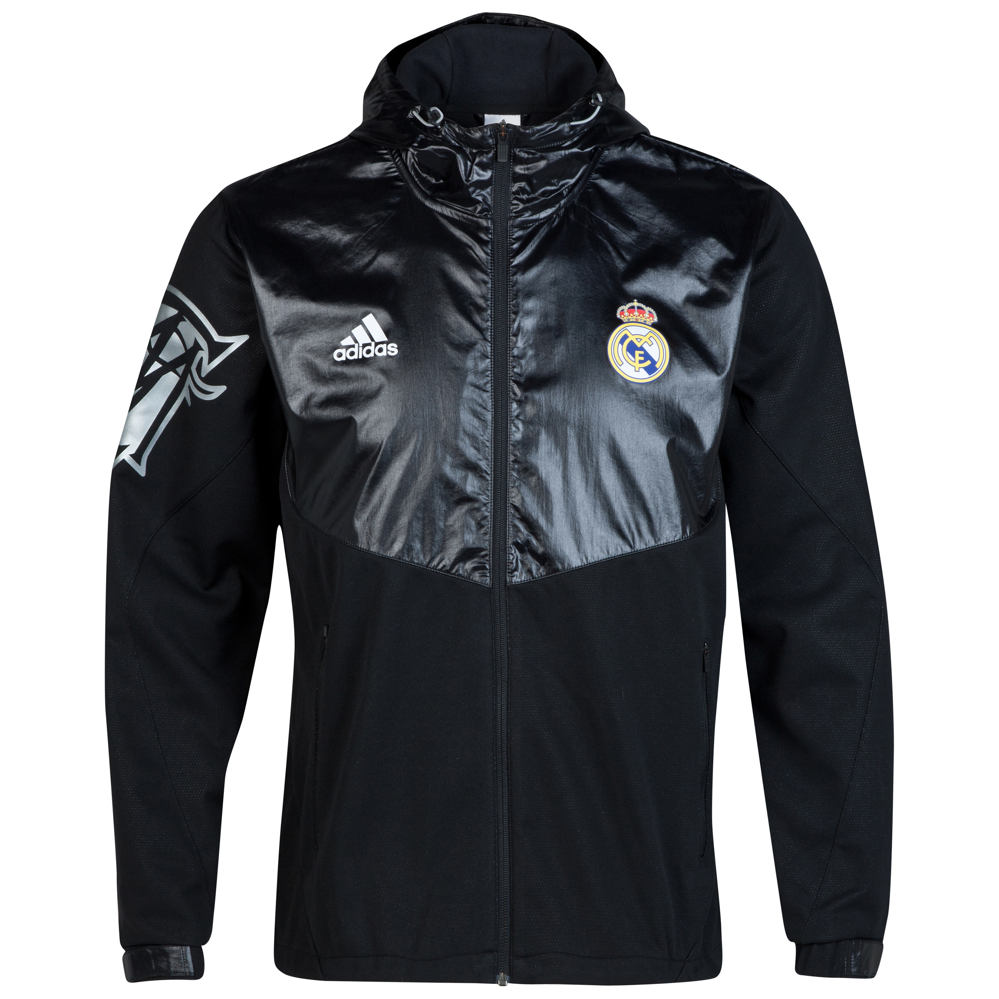 Real Madrid Exclusive Windbreaker Charcoal