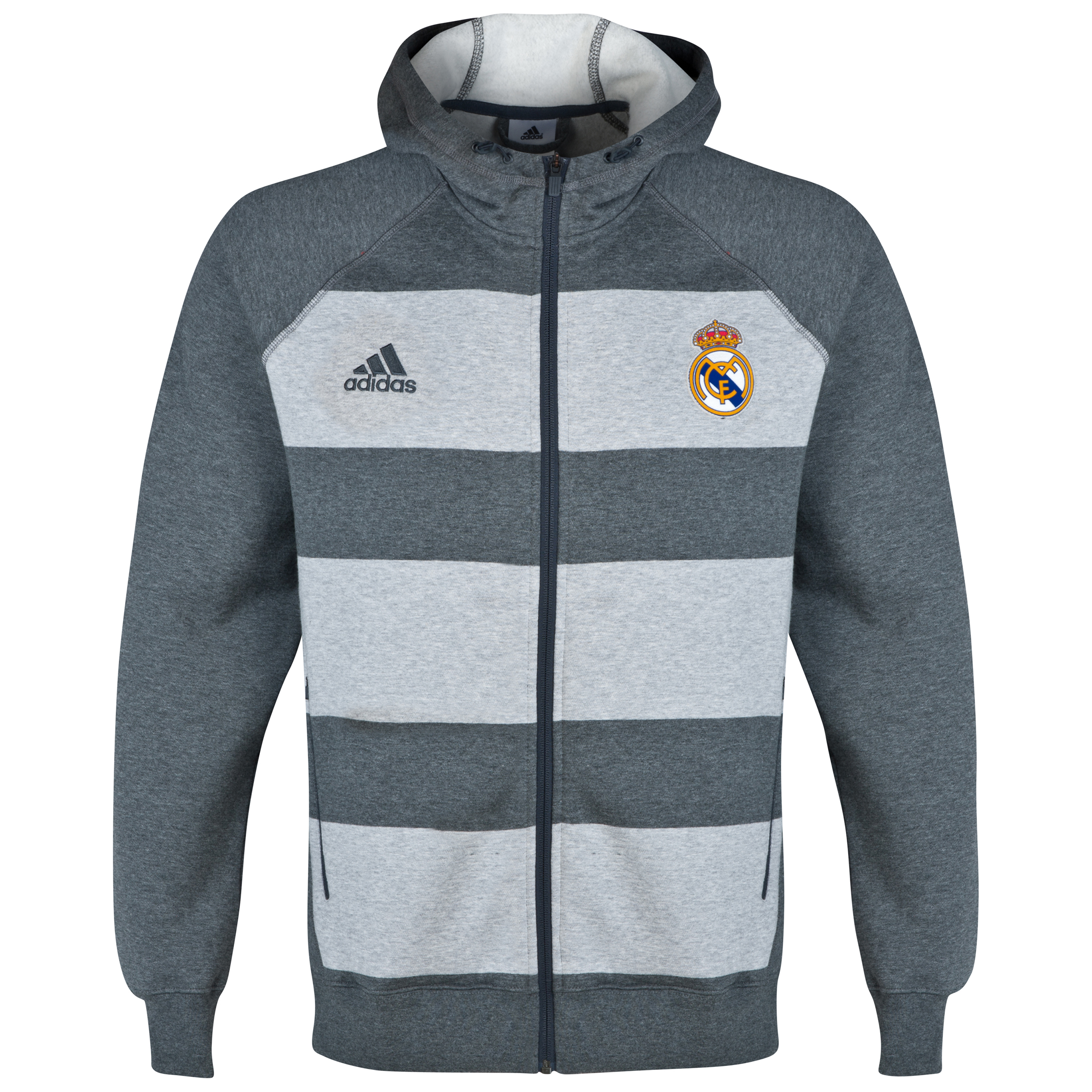 Real Madrid Full Zip Hoody Grey