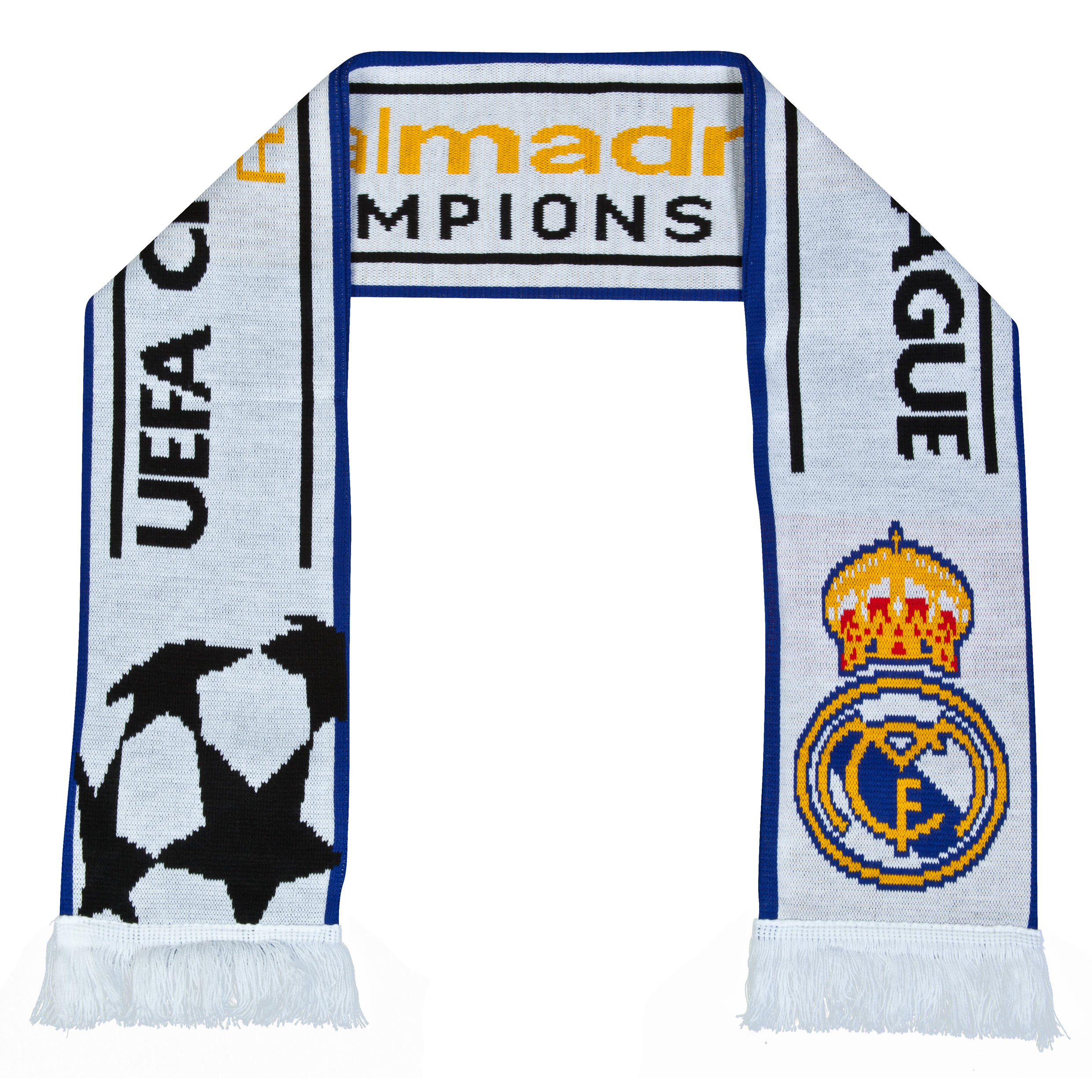 Real Madrid UEFA Champions League Jacquard Scarf - White