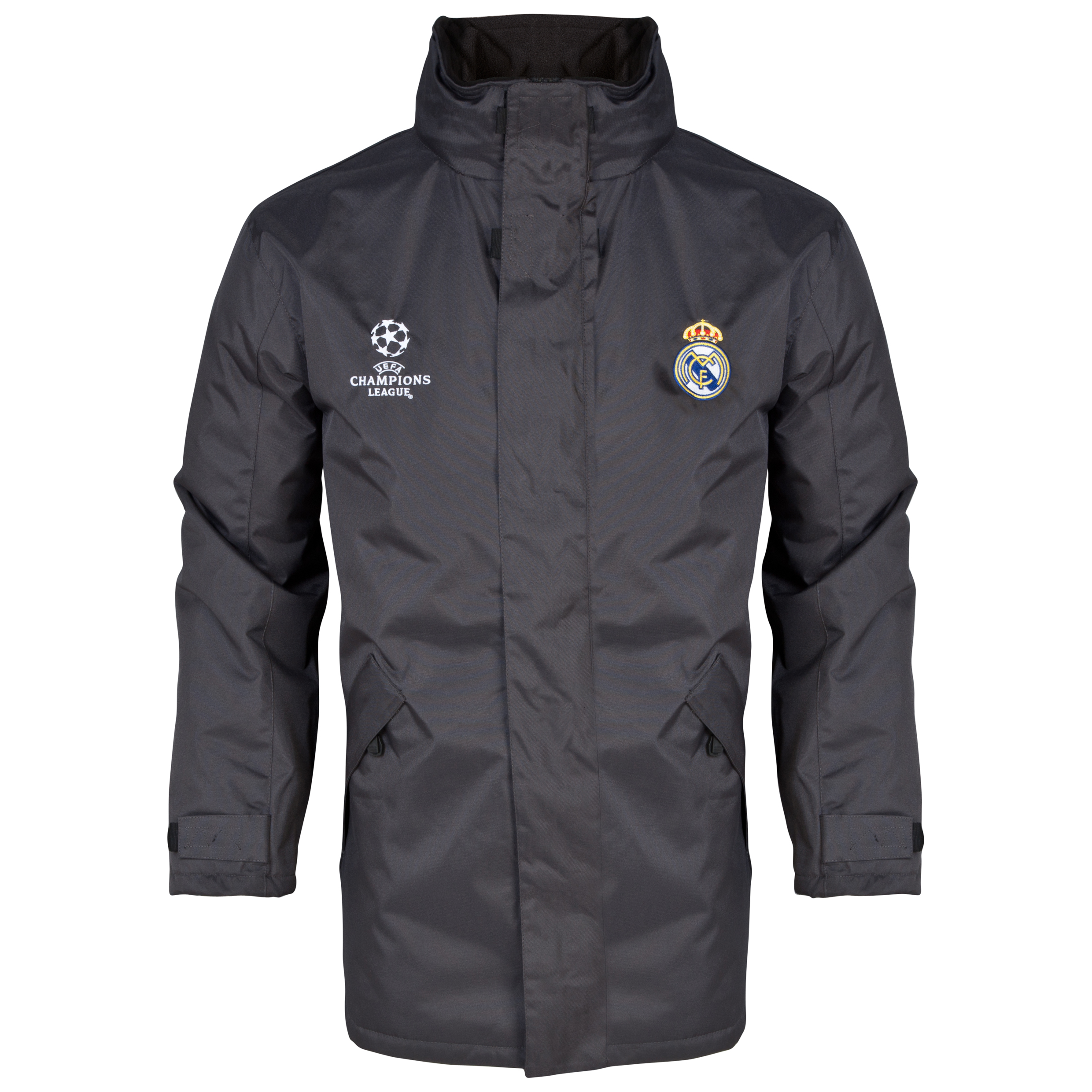 Real Madrid UEFA Champions League Heavy Jacket - Mens Charcoal