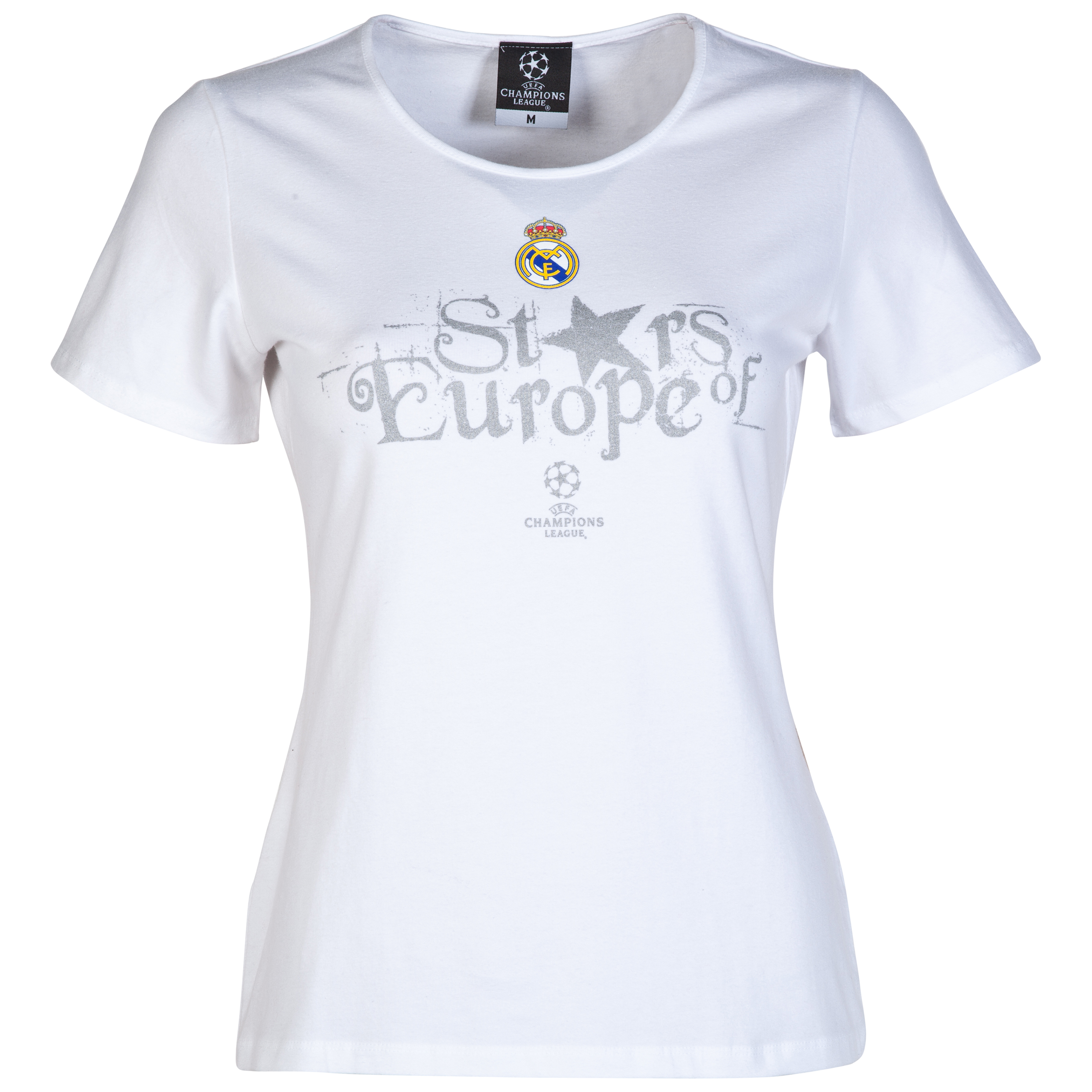 Real Madrid UEFA Champions League Stars of Europe T-Shirt - Womens White