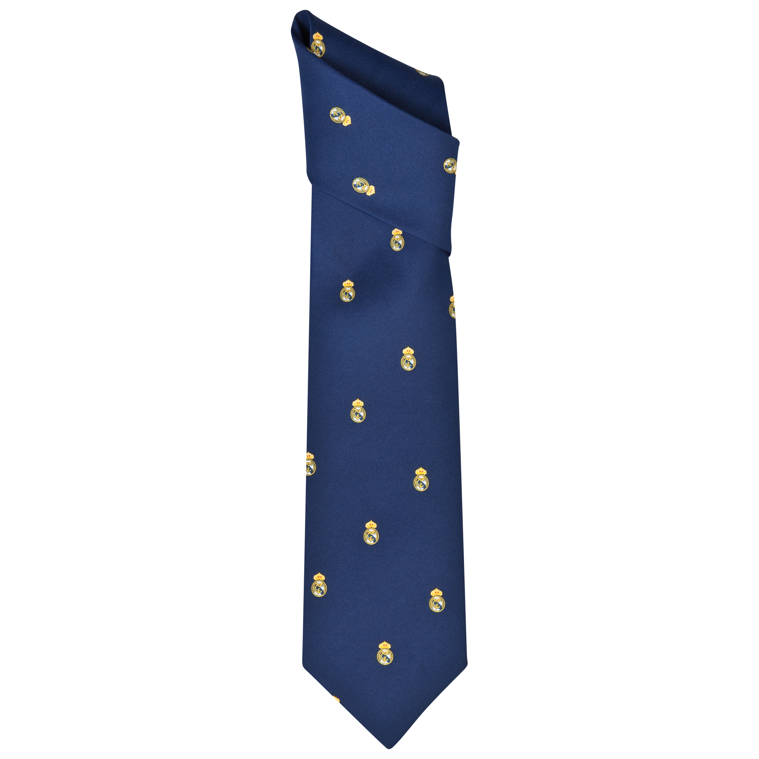 Real Madrid Repeat Crest Tie - Polyester