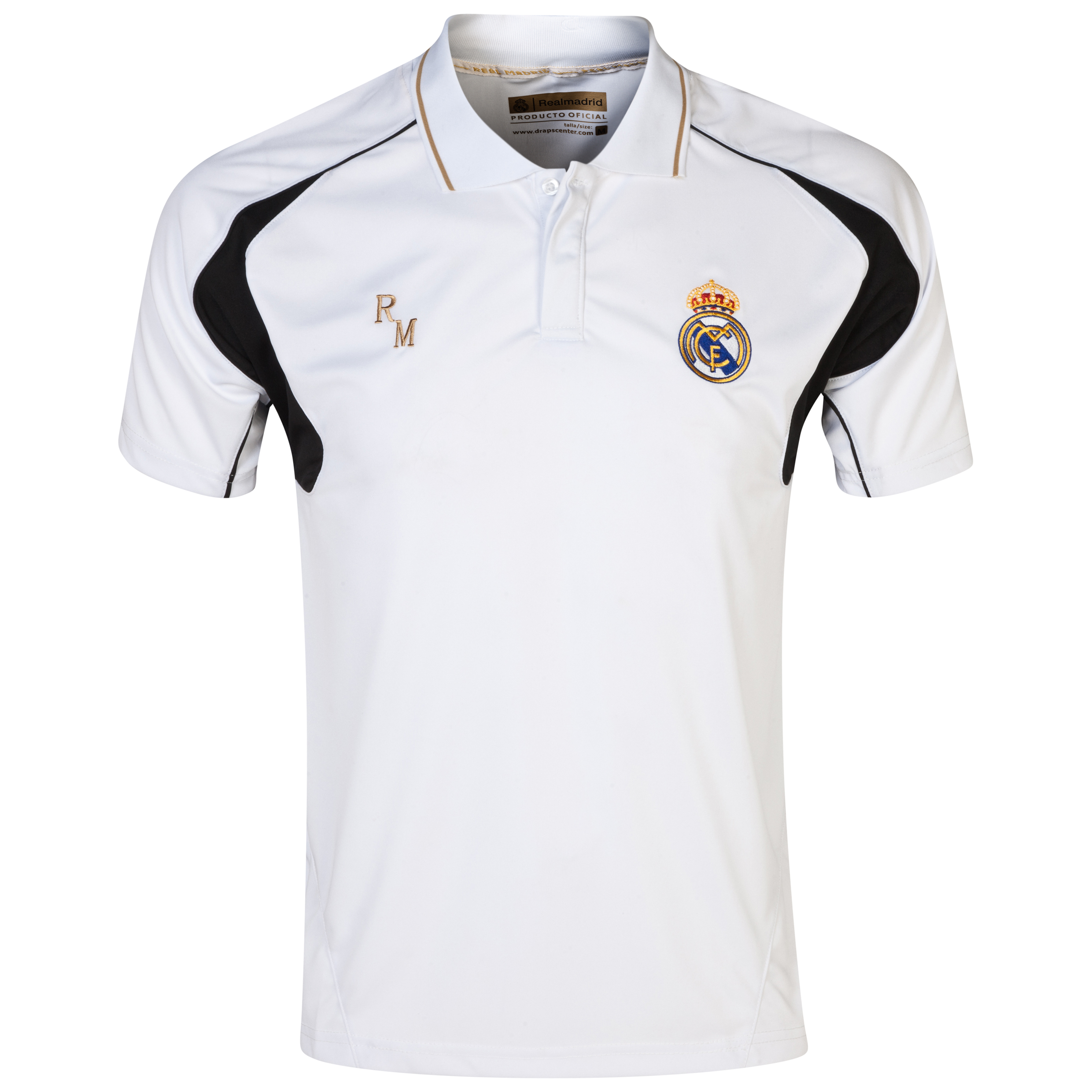 Real Madrid Classic Training Polo Shirt - Mens White