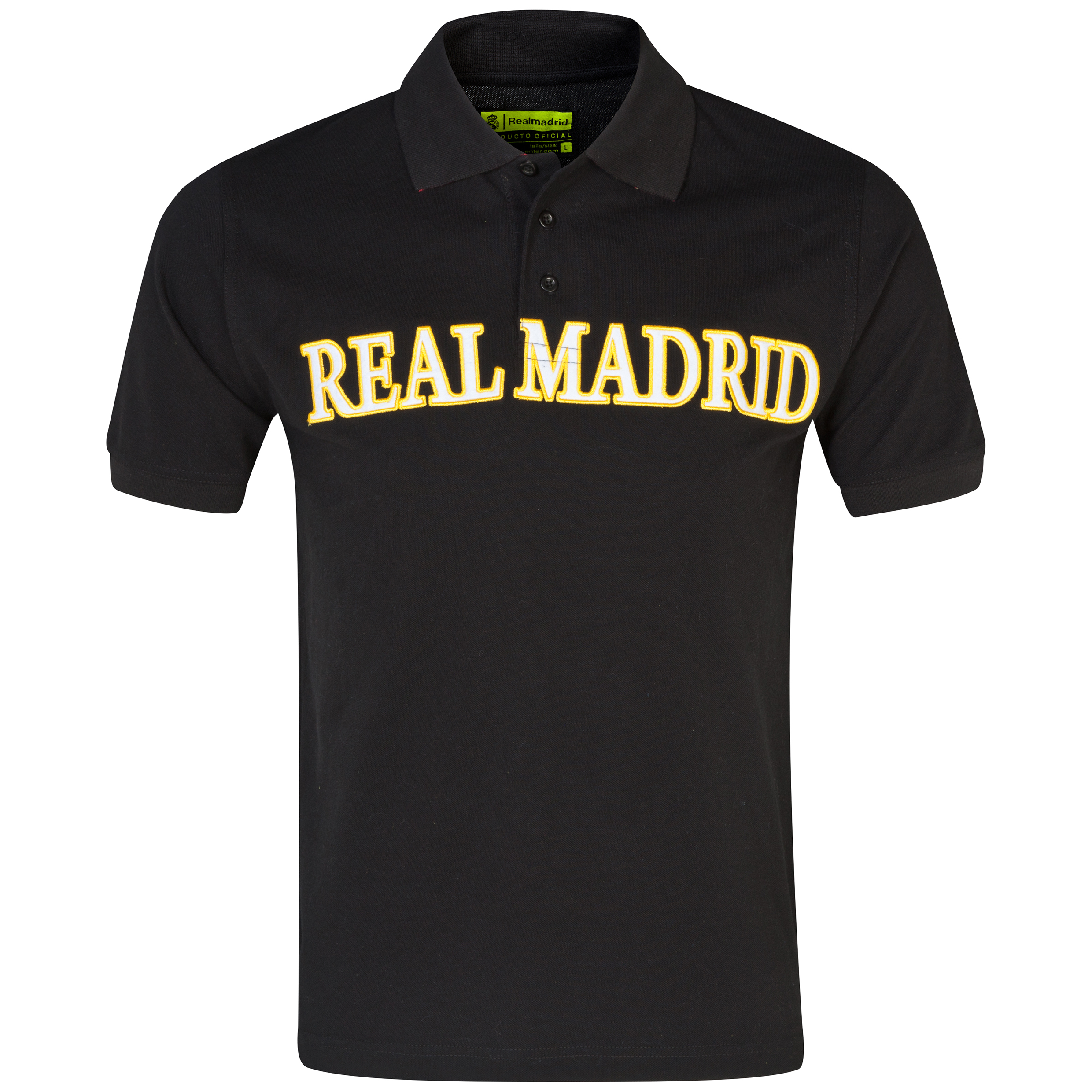 Real Madrid 1902 Polo Shirt - Mens Black