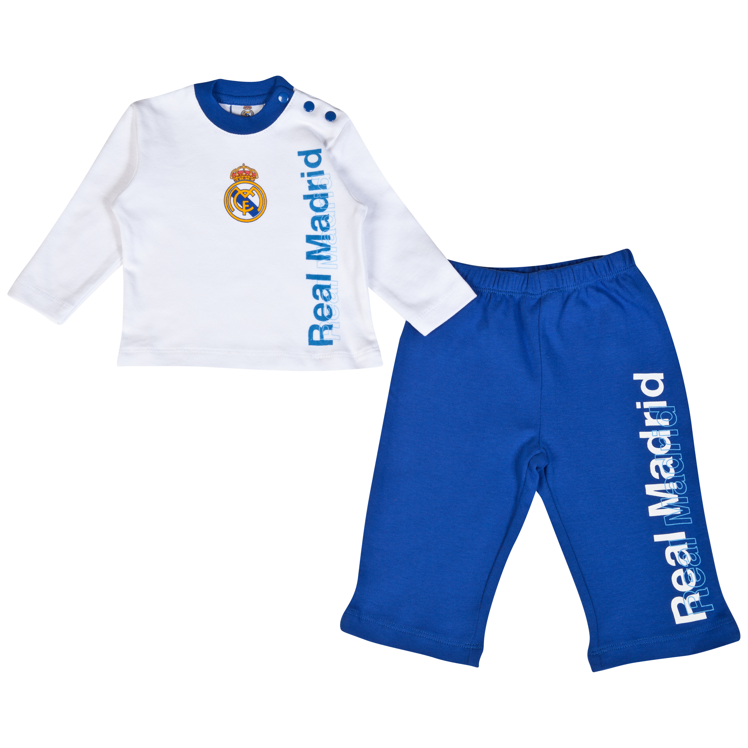 Real Madrid Long Pyjamas - Baby White