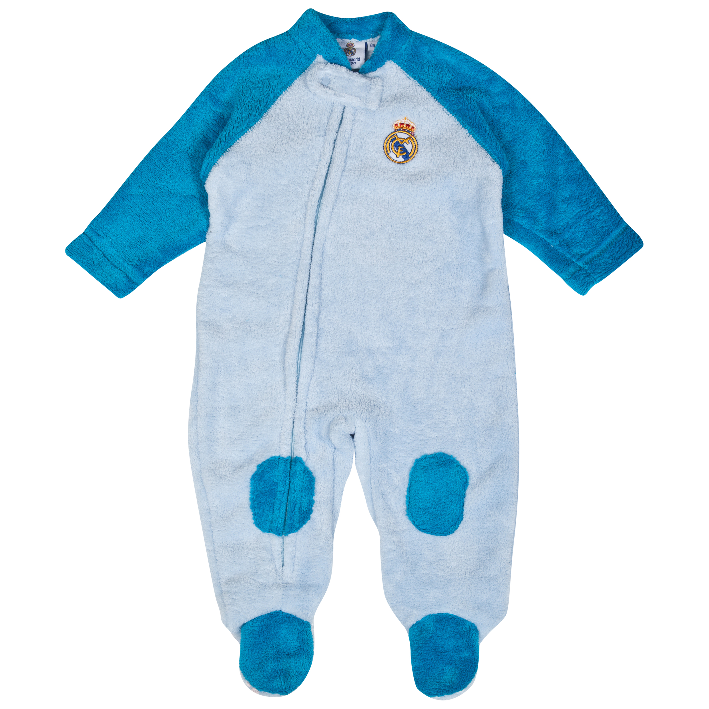 Real Madrid Snuggle Sleepsuit - Baby Blue
