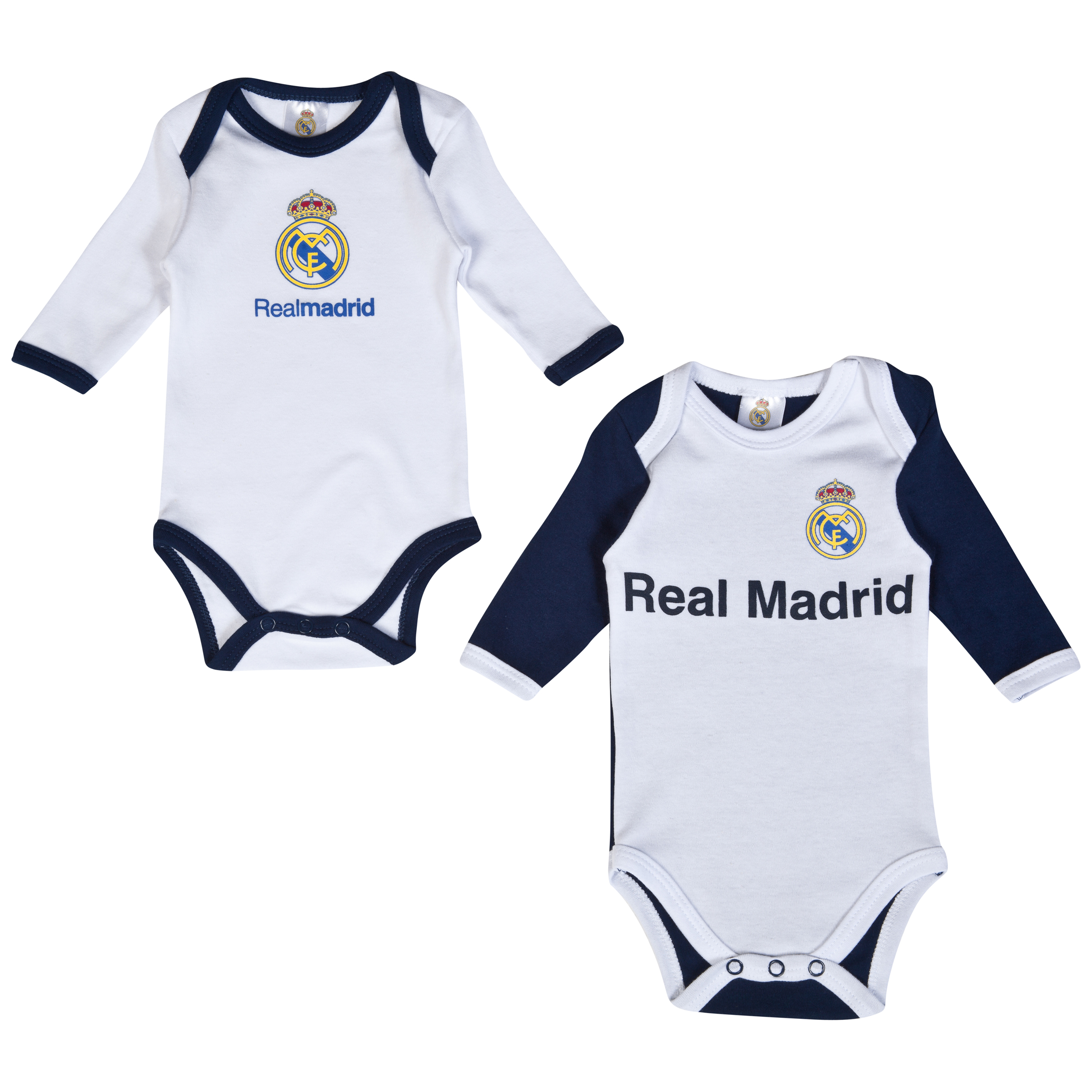 Real Madrid 2 PK Bodysuits - Baby White