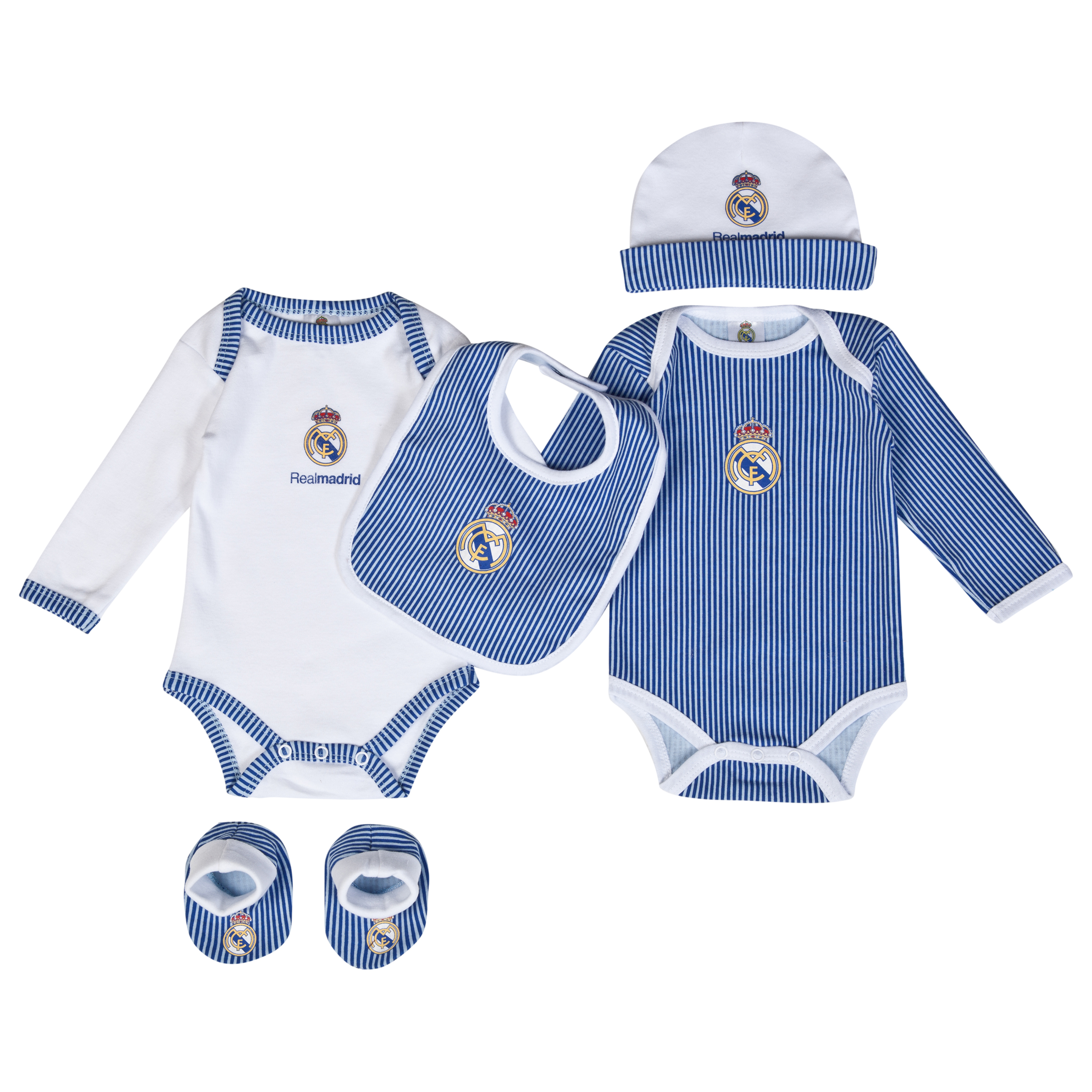 Real Madrid 5 PC New Born Set - Baby Blue