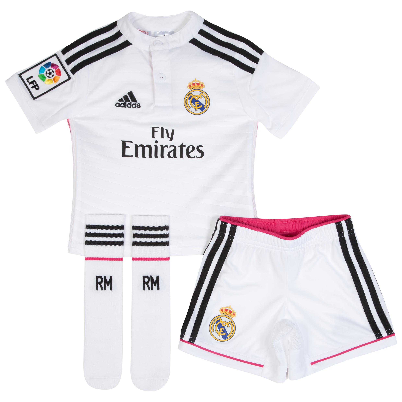 Mini-Kit Domicile Real Madrid 2014/15 – Blanc